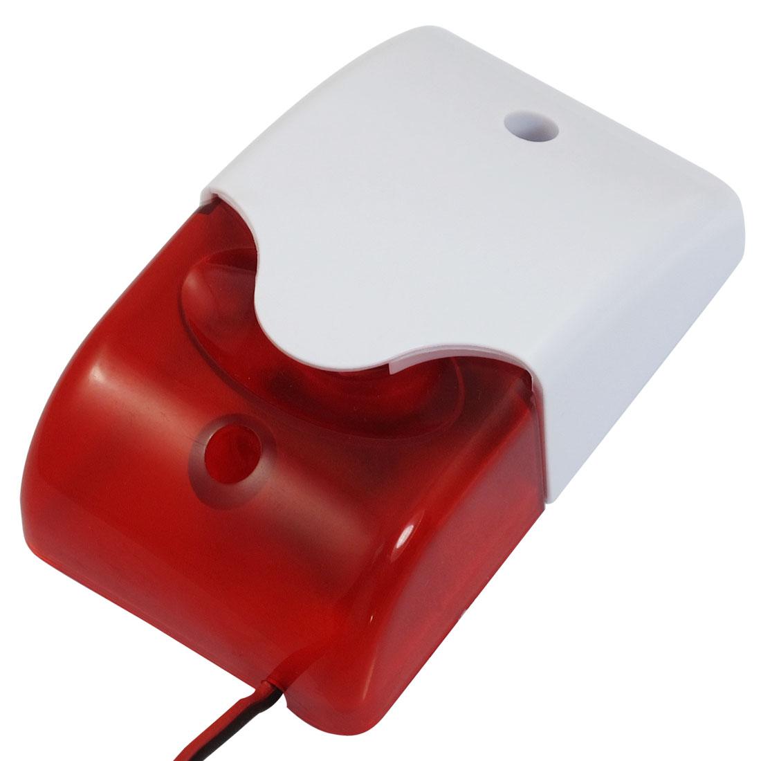 Plastic Housing Red LED Light Safety Warning Mini Strobe Siren DC 12V