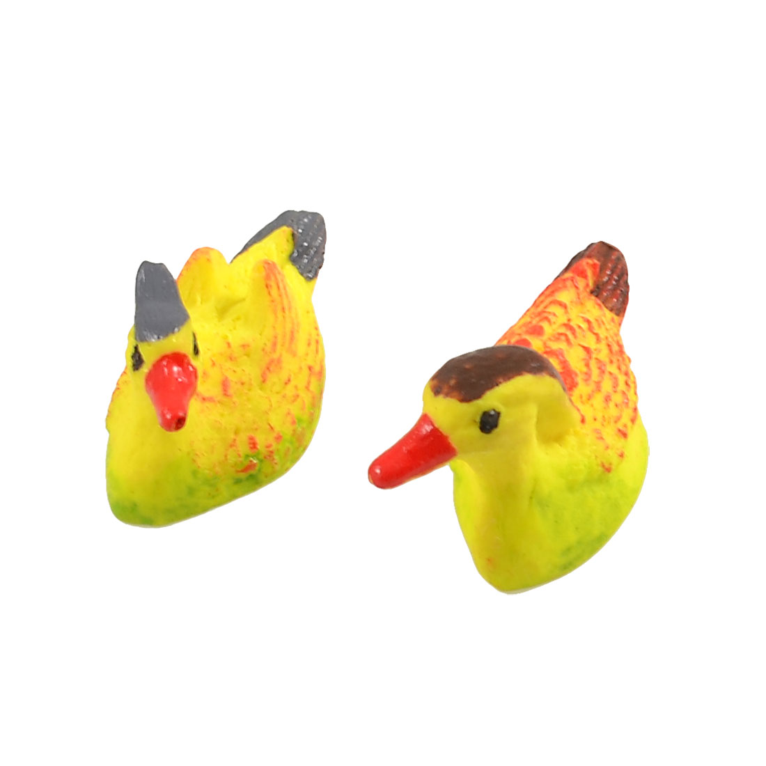 Fish Tank Decoration Yellow Ceramic Mandarin Ducks Toy Pair