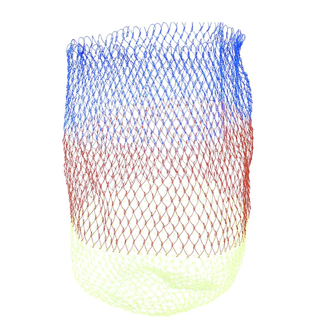 Red Blue Yellowgreen Nylon 1 x 1cm Rhombus Hole Fishing Landing Net