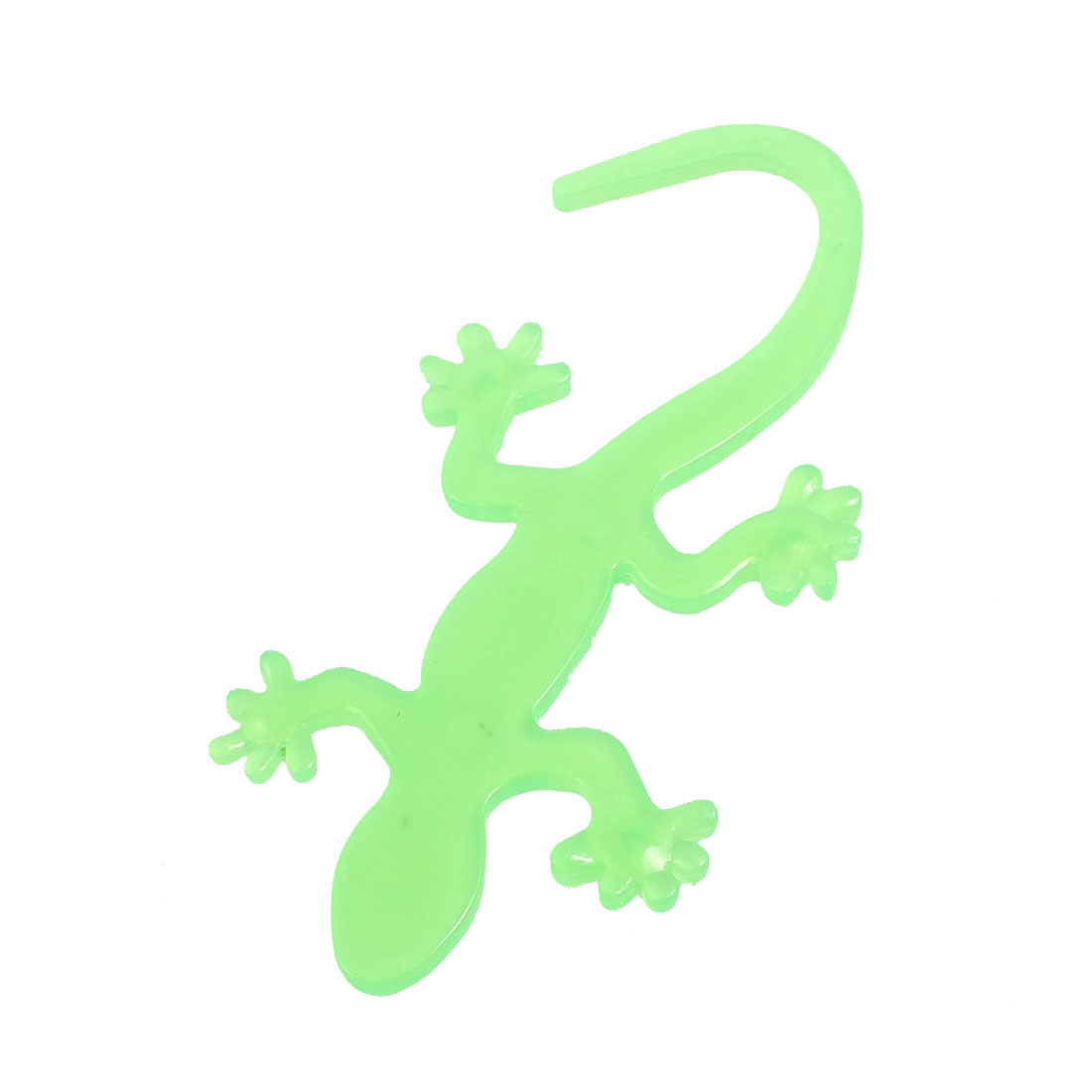 Clear Green Plastic Gecko Design 3D Sticker Badge for Car Vehicle