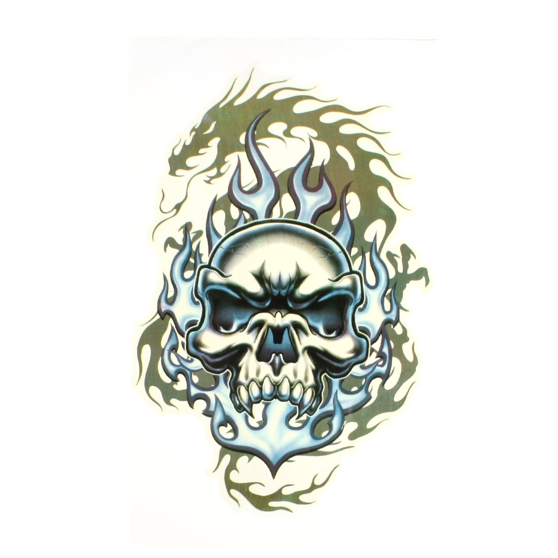 Blue Green Decorative Skull Head Design Car Sticker Decor