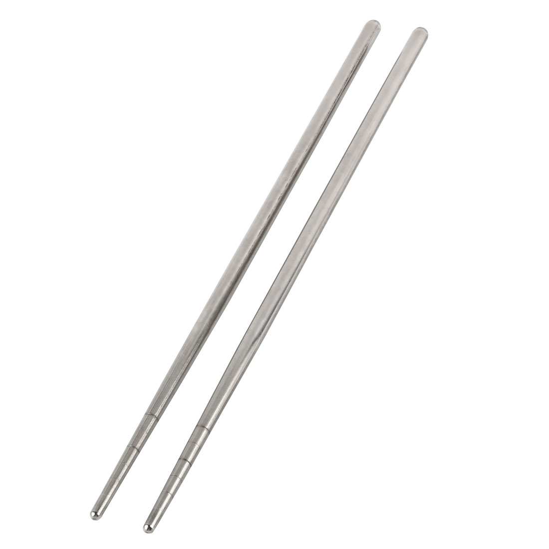 Travel Stainless Steel Foldable Pocket Chopsticks Silver Tone Pair