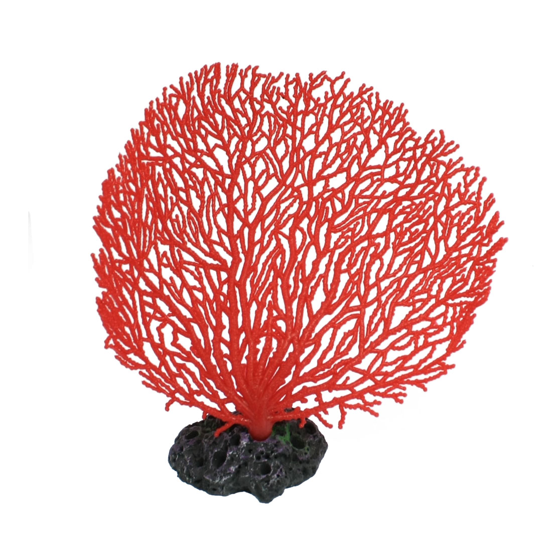 "Aquarium Plastic Coral Design Ornament Decoration Red 6.5"" High"