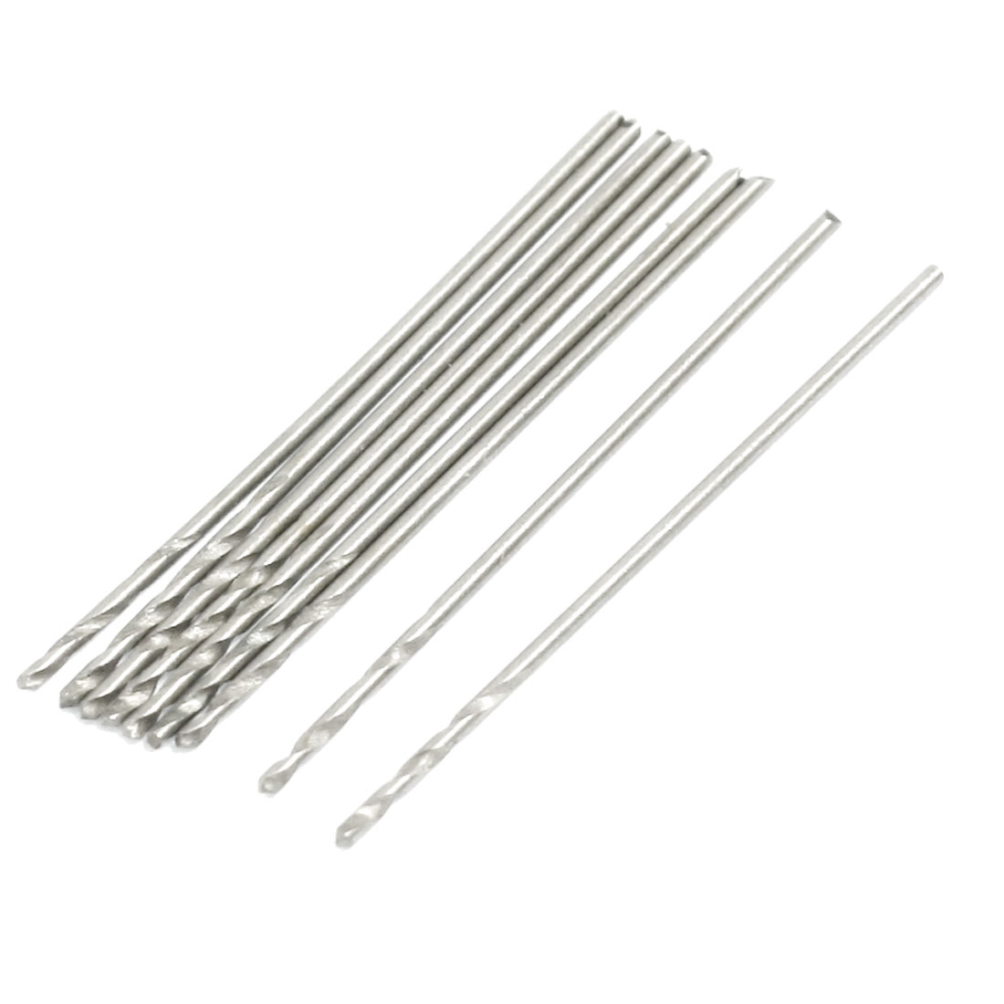 10 x 0.8mm Dia HSS Straight Shank Twist Drill Bits 30mm Long