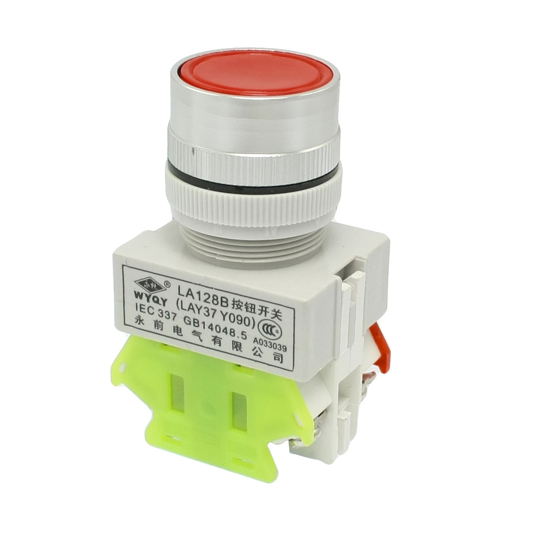 Red Round DPST Momentary Press Push Button Switch 660V Ui 10A Ith