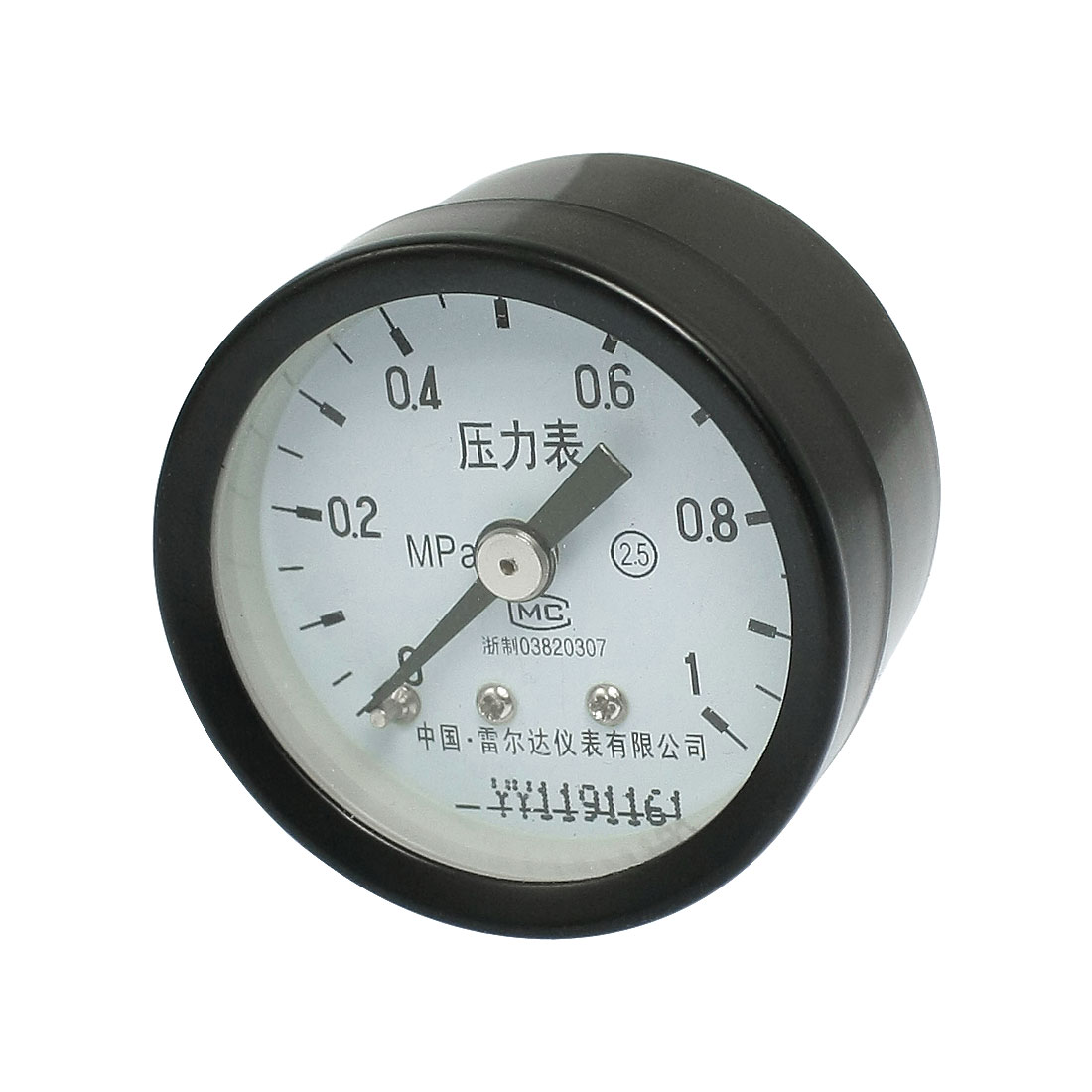 "Metal Casing 1.7"" Face 3/8"" Thread Air Pressure Gauge 0-1 MPa"