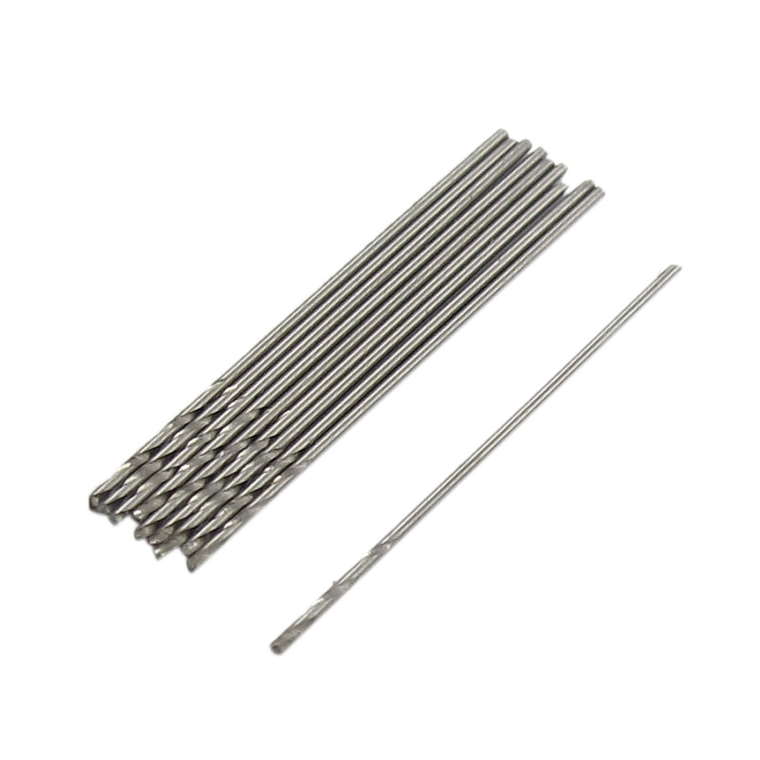 10 Pcs Iron Aluminum Drilling HSS Twist Drill Bits Tool 0.5mm