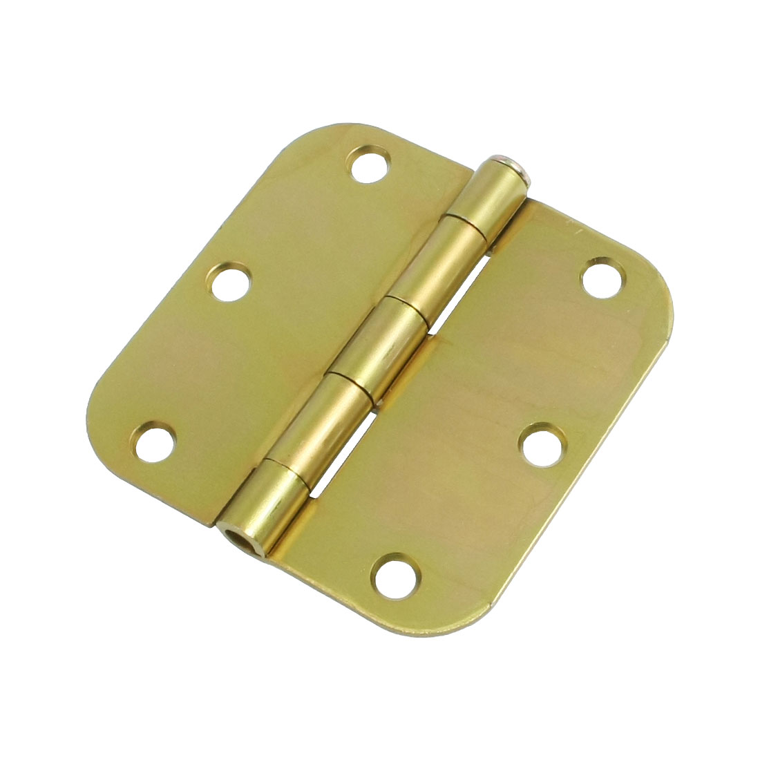 Gold Tone Metal Gate Door Cabinet Radius Hinge Hardware 3.5""