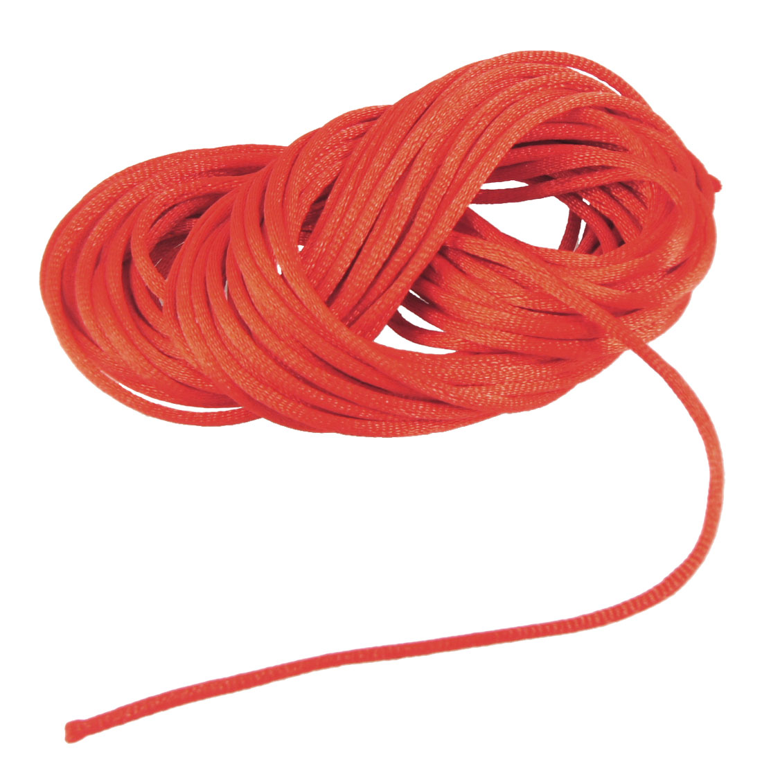 Red Braided Thread Nylon Handwork Chinese Knot Rat Tail Cord 8.2M