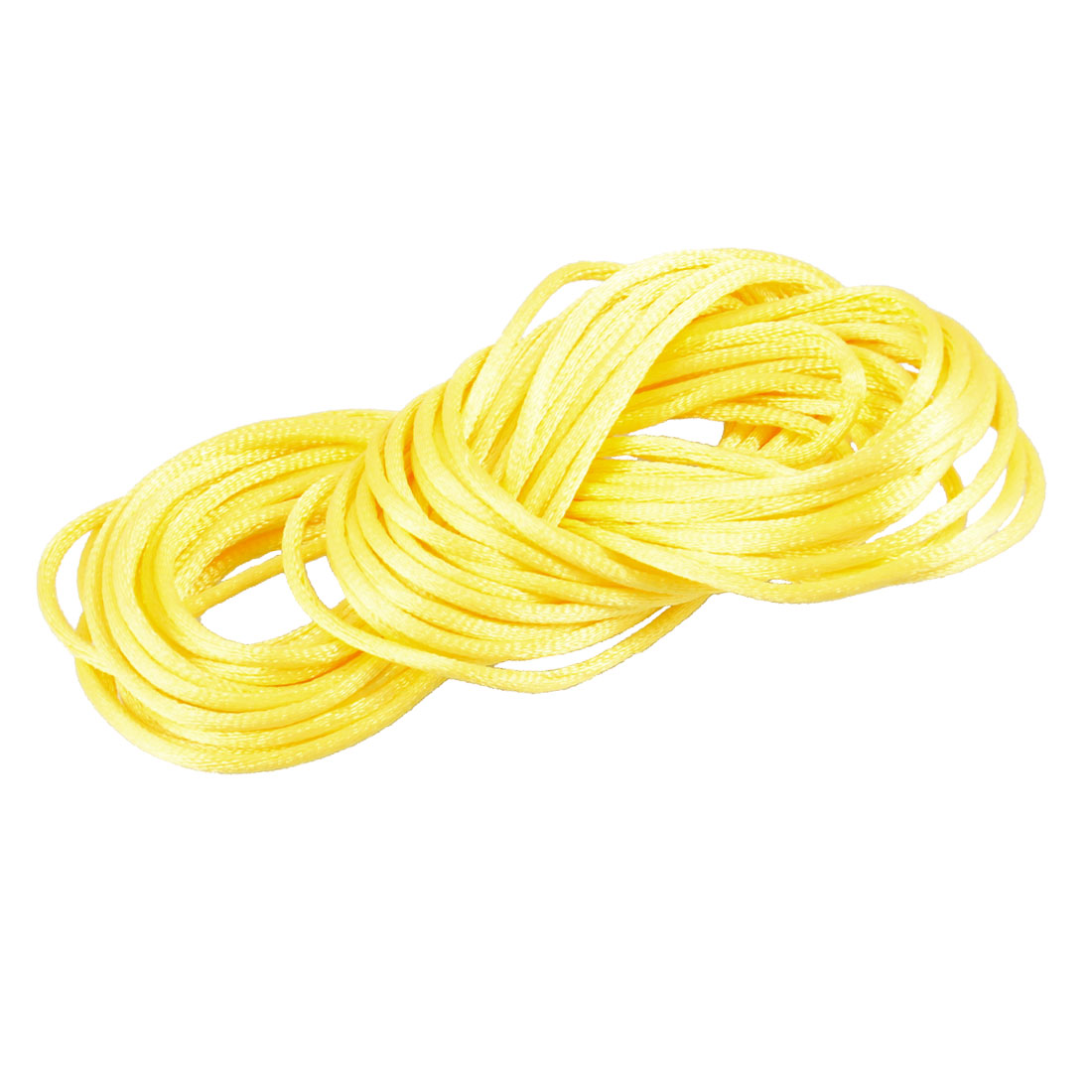 Yellow Braided Thread Nylon Handwork Chinese Knot Rat Tail Cord 8.2M