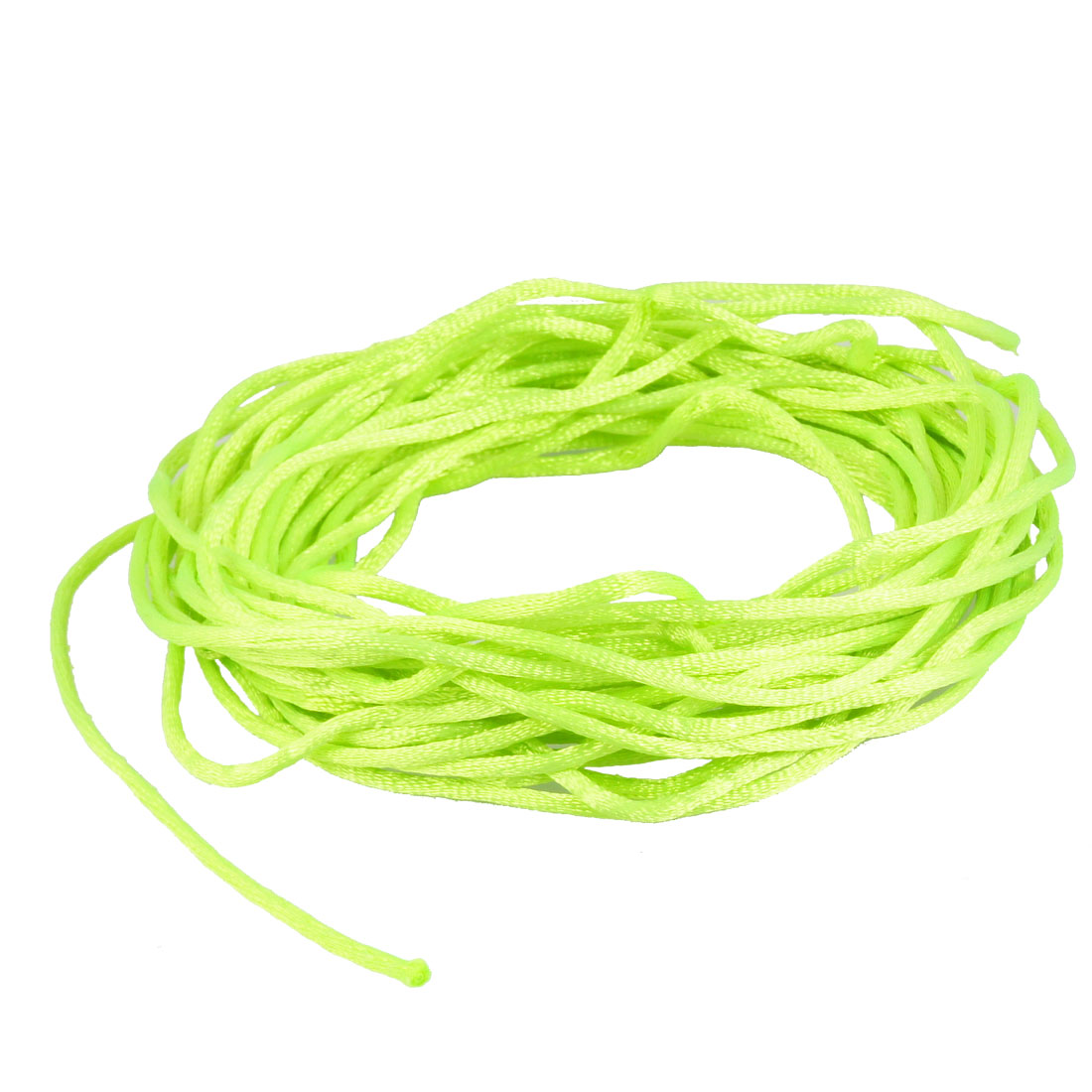Bright Green Braided Thread Nylon Handwork Chinese Knot String Rat Tail Cord