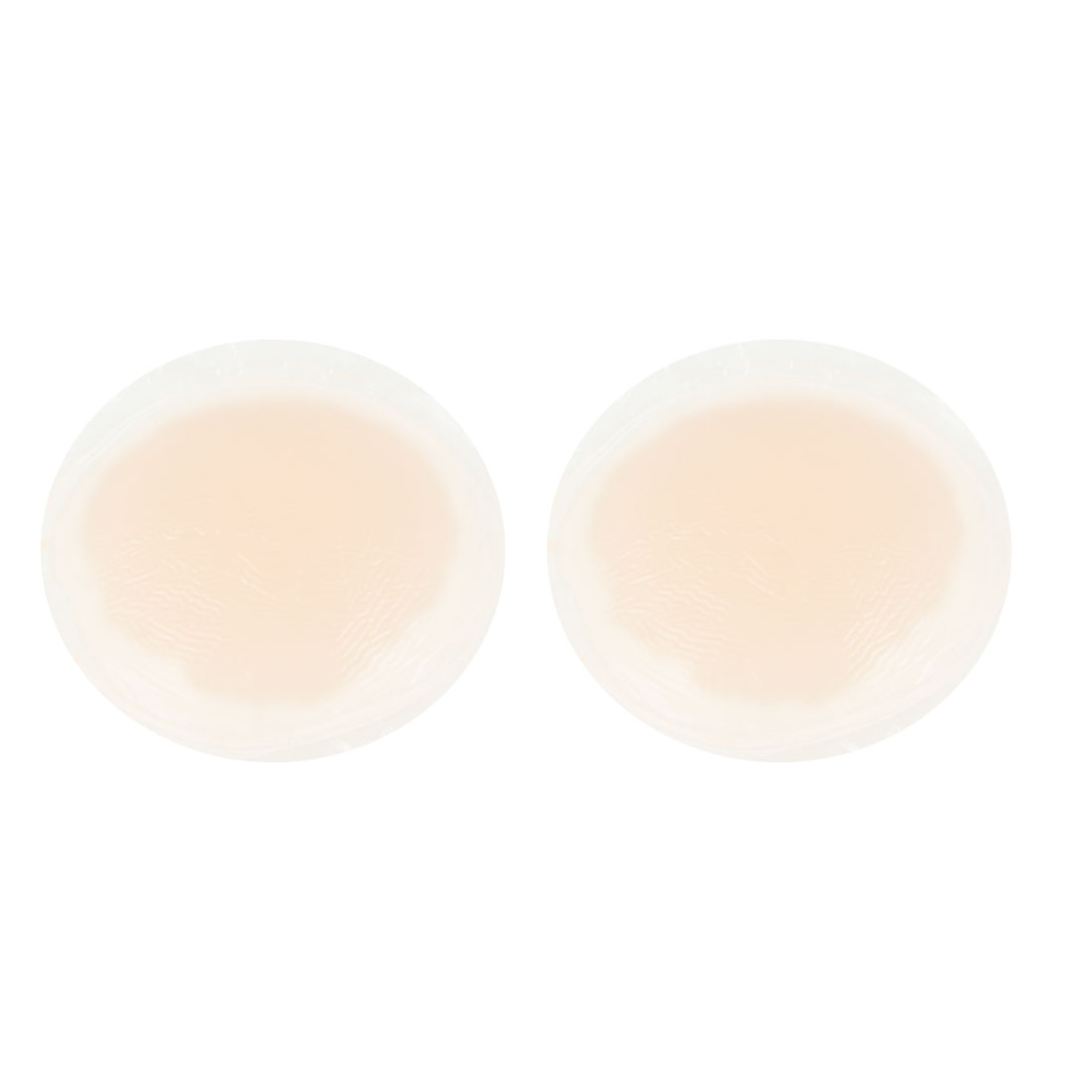 "2 Pcs 2.4"" Diameter Silicone Nipple Cover Pad Beige for Ladies"