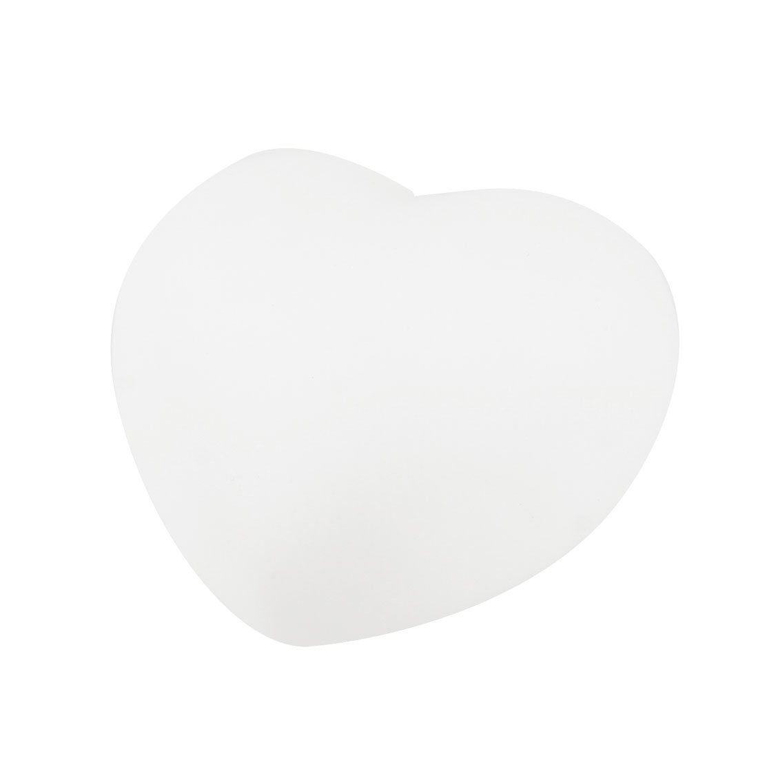 Heart Shaped Color Changed White Plastic Lamp Desk Table Decoration
