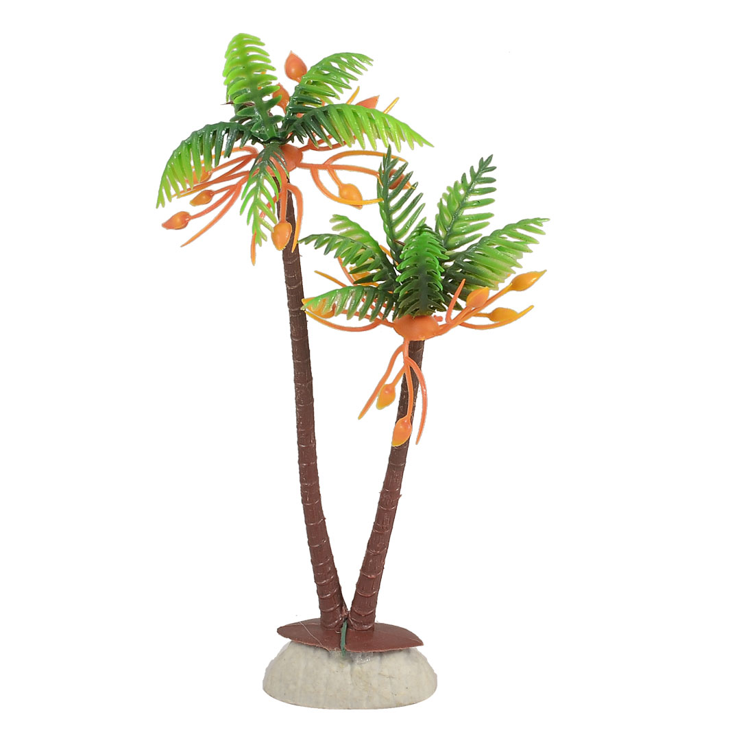 Aquarium Fish Tank Ornament Coconut Palm Shape Plastic Water Plant