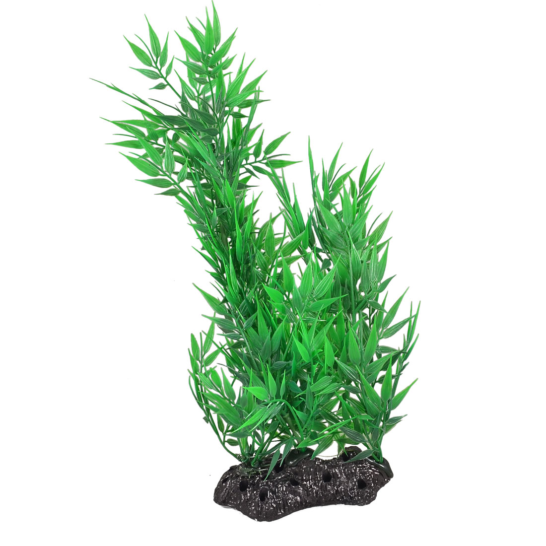 Aquarium Fish Tank Ornament Bamboo Type Green Plastic Water Plant