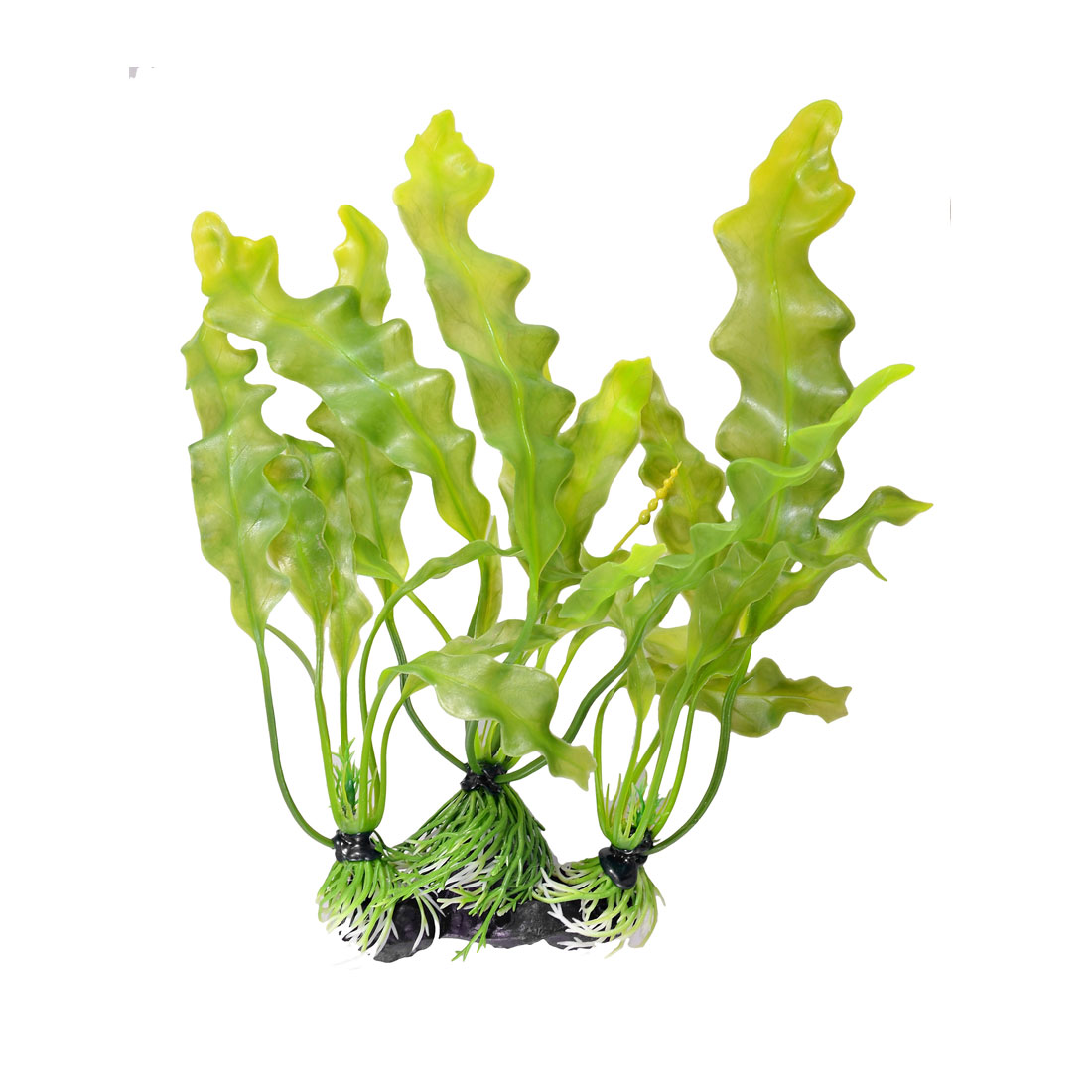 "Aquarium Decoration 13"" Height Plastic Green Curly Leaf Underwater Plant"