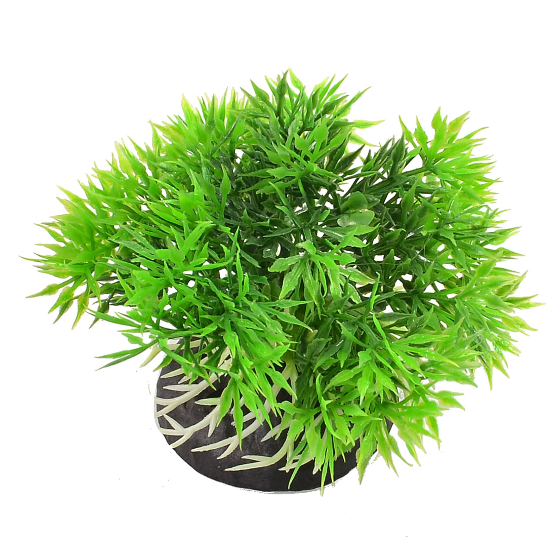 Aquarium Fish Tank Ornament Green Grasses White Root Style Water Plant