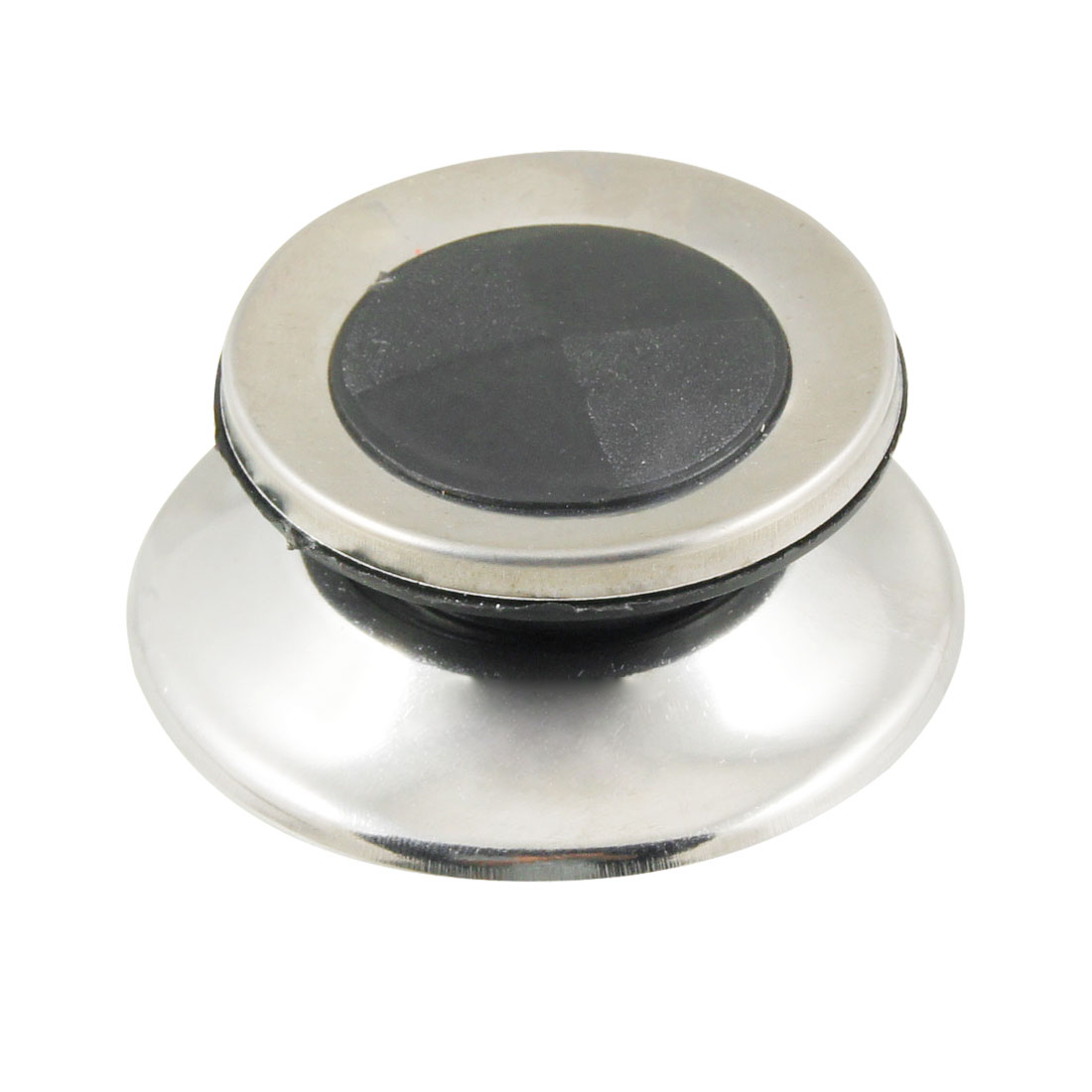 Cookware Black Silver Tone Replacement Plastic Metal Cover Pot Lid Knob