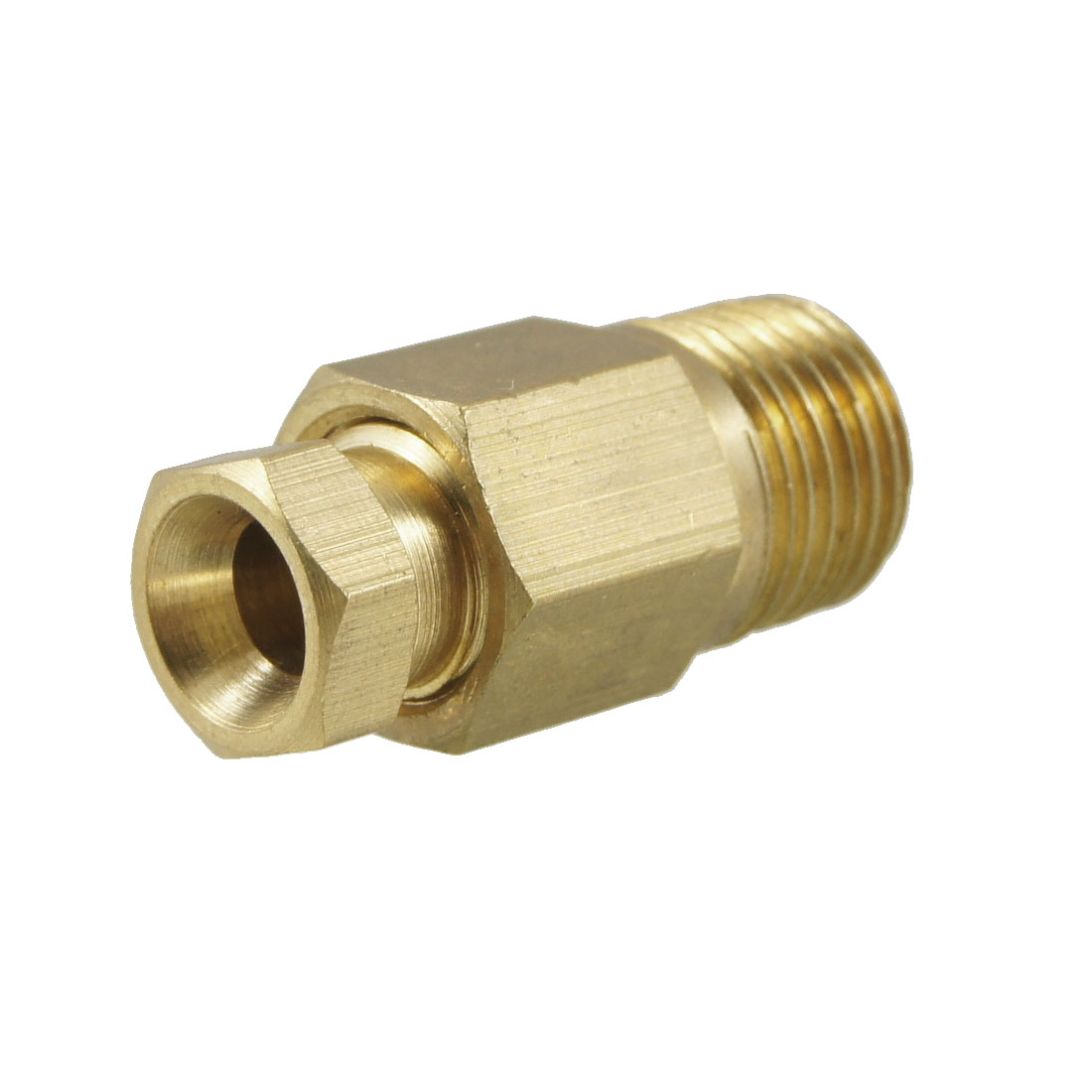 "4mm Hole Dia 1/8"" Male Thread Brass Straight Hydraulic Grease Nipple Fitting"