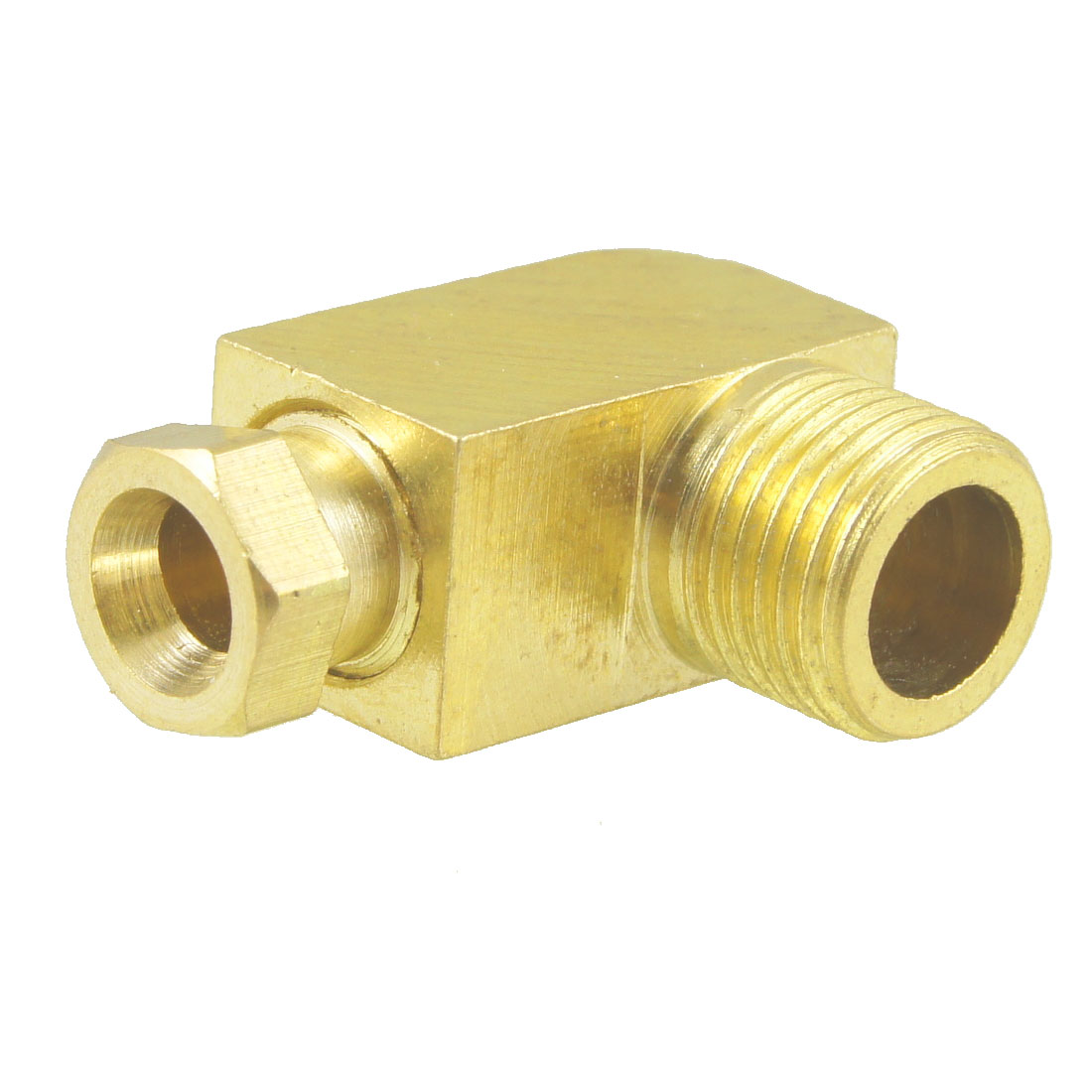 "4mm Hole Dia 1/8"" Male Thread 90 Degree Metal Hydraulic Grease Nipple Fitting"