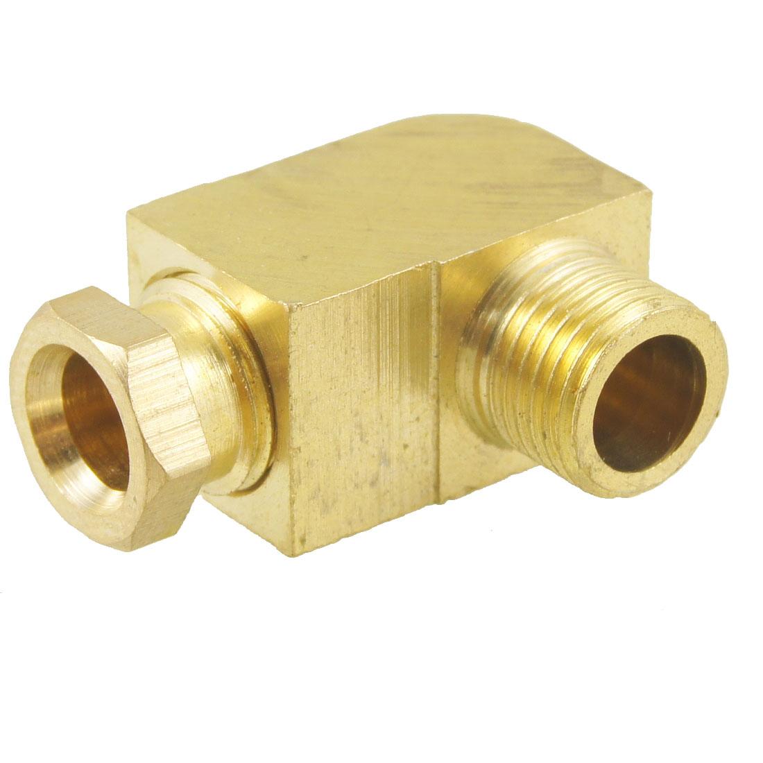 "6mm Hole Dia 1/8"" Male Thread 90 Degree Metal Hydraulic Grease Nipple Fitting"