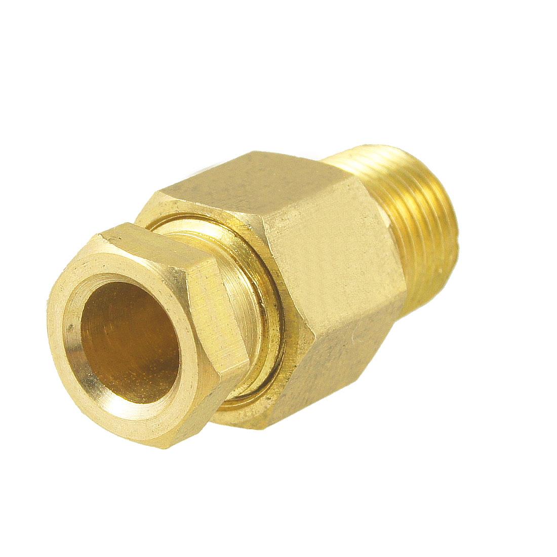 "6mm Hole Dia 1/8"" Male Thread Metal Straight Hydraulic Grease Nipple Fitting"