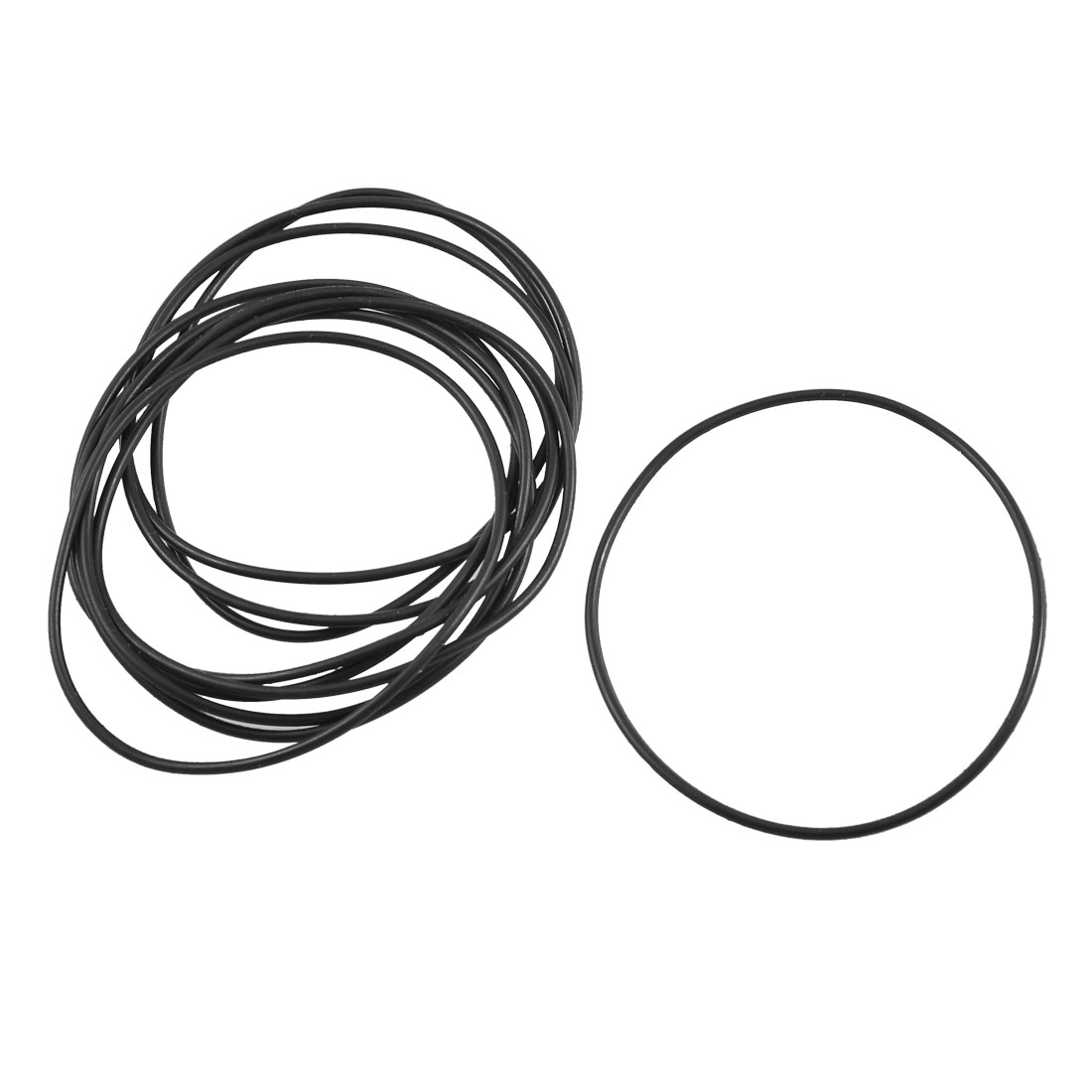 10 Pcs Black Rubber Oil Seal O Ring Sealing Gaskets 58mm x 55mm x 1.5mm