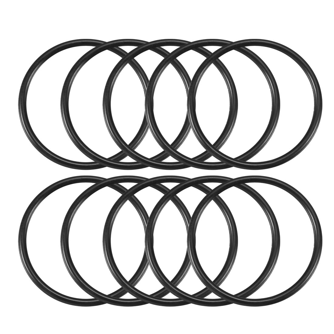 10 Pcs Black Rubber O Ring Oil Sealing Gasket Washer 25mm x 22mm x 1.5mm