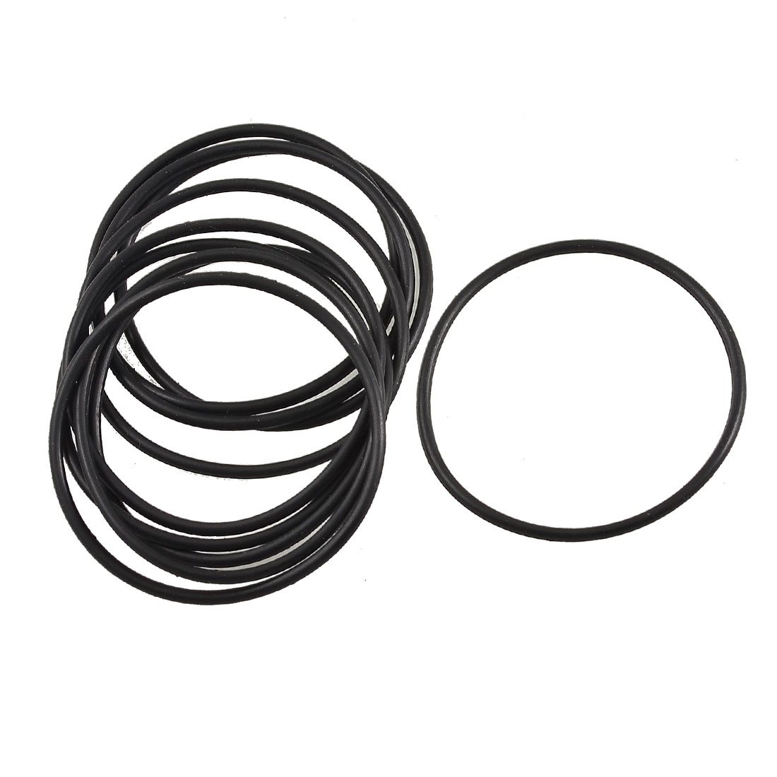 10 Pcs Black Rubber Oil Filter Sealing O Ring Gasket 36mm x 33mm x 1.5mm