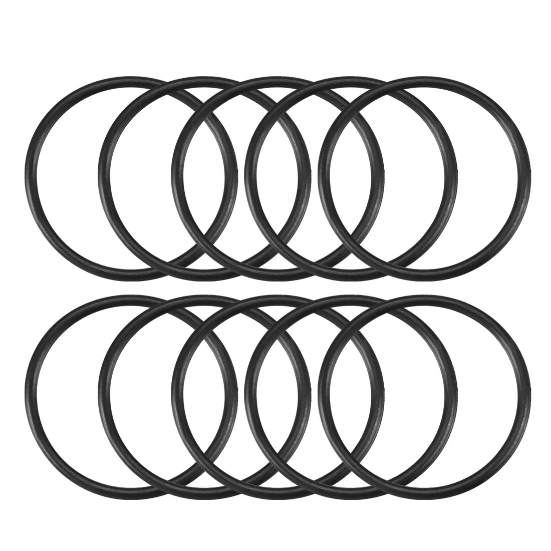 10 Pcs Black Rubber Oil Seal O Ring Gasket Washer 24mm x 21mm x 1.5mm