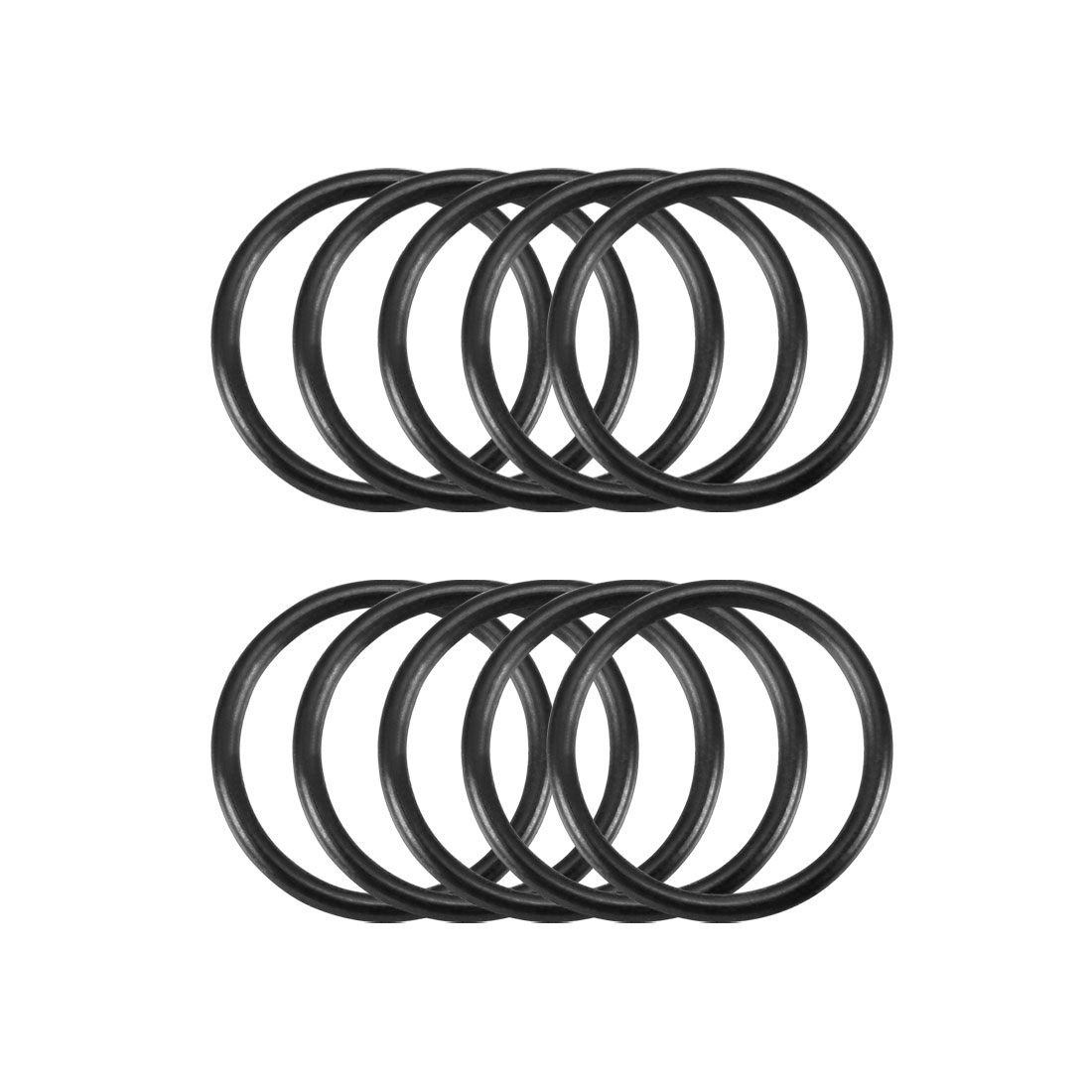 10 Pcs Black Rubber Flexible O Ring Oil Seal Gaskets 17mm x 1.8mm
