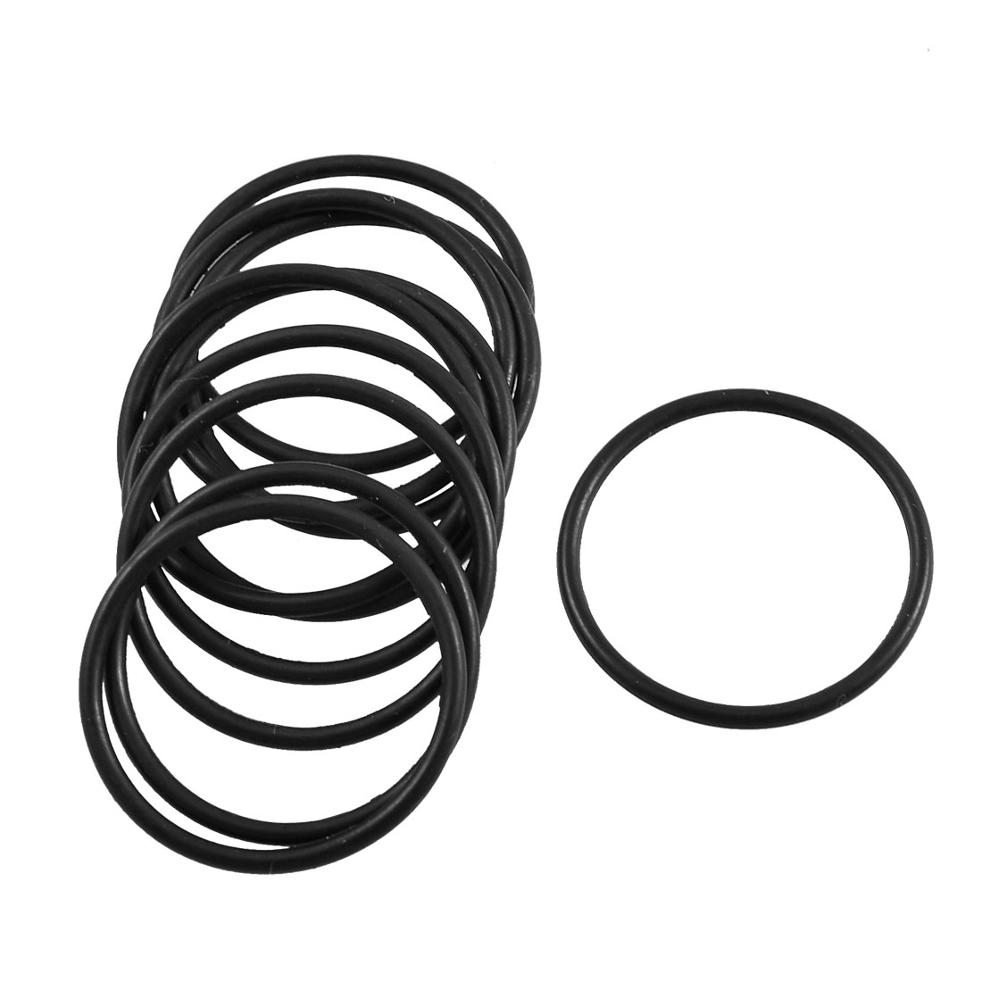 10 Pcs Black Oil Seal O Ring Sealing Gasket Washer 25mm x 1.8mm