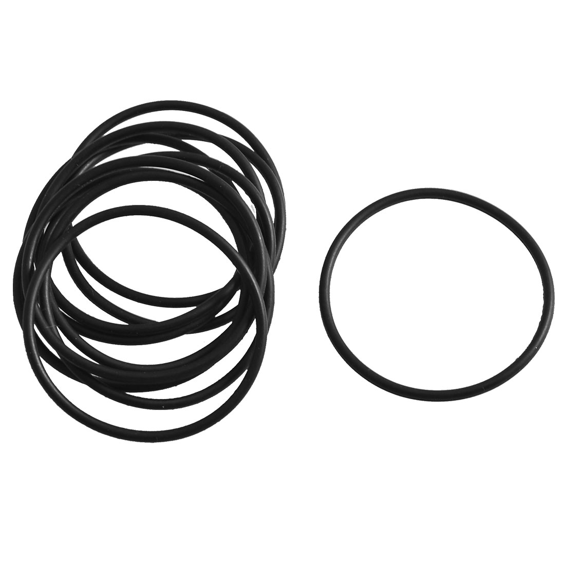 10 Pcs Black Rubber Oil Filter Sealing O Ring Gasket 35.5mm x 1.8mm