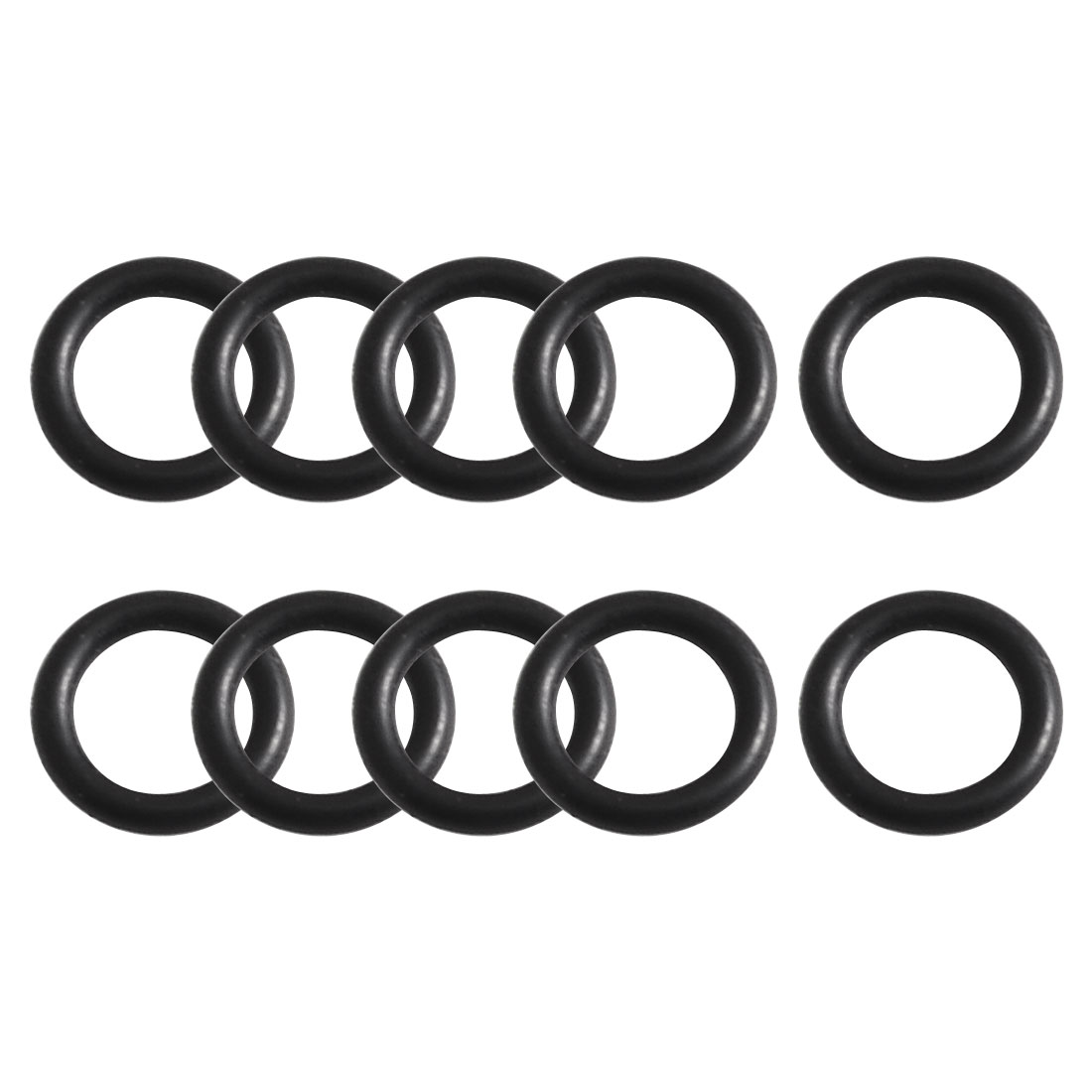 10 Pcs Black Rubber O Ring Oil Filter Sealing Gasket 7.1mm x 1.8mm