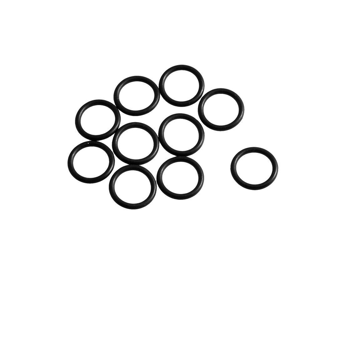 10 Pcs Black Rubber Oil Filter Sealing O Ring Gaskets 10.6mm x 1.8mm