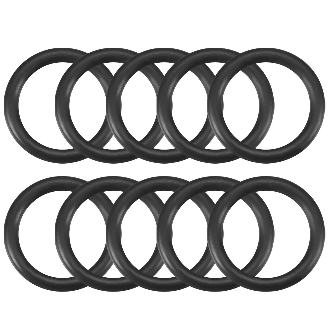 10 Pcs Black Rubber Oil Seal O Ring Sealing Washer 10mm x 1.8mm