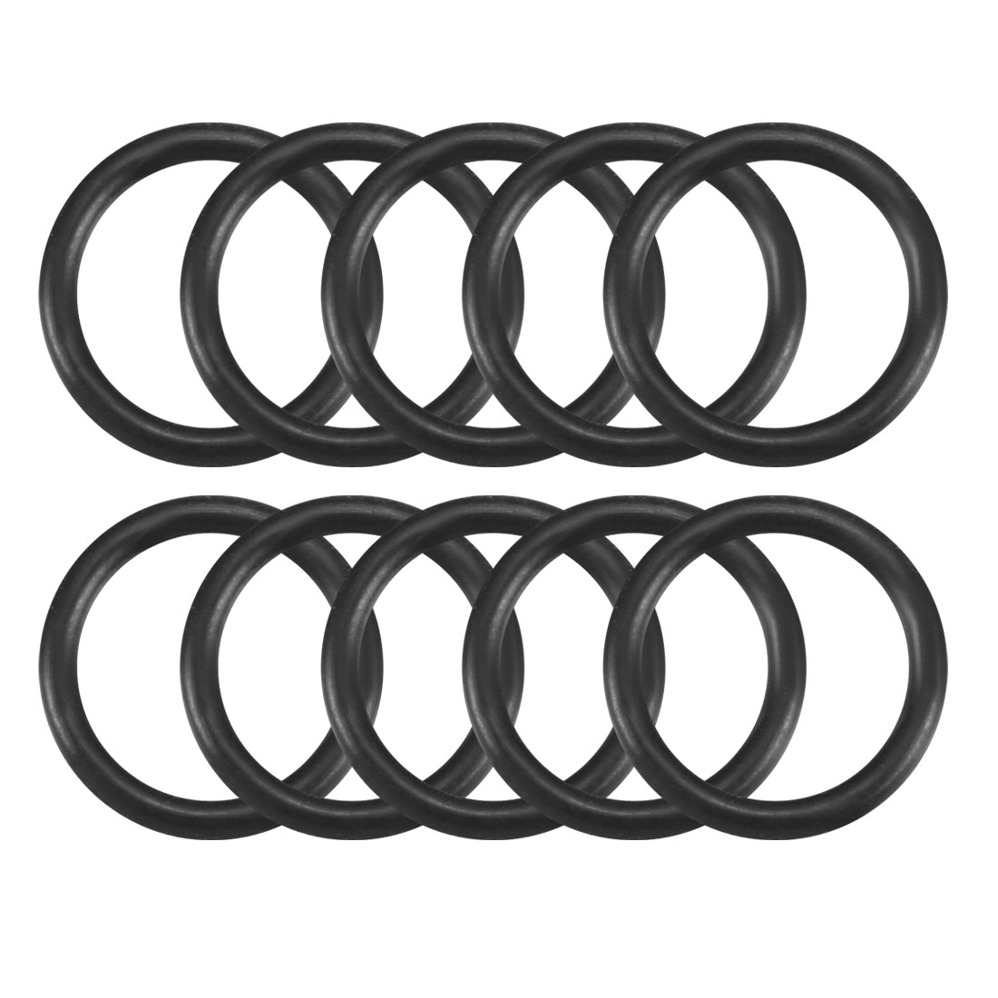 10 Pcs Black Rubber Oil Seal O Ring Sealing Gaskets 12mm x 9mm x 1.5mm