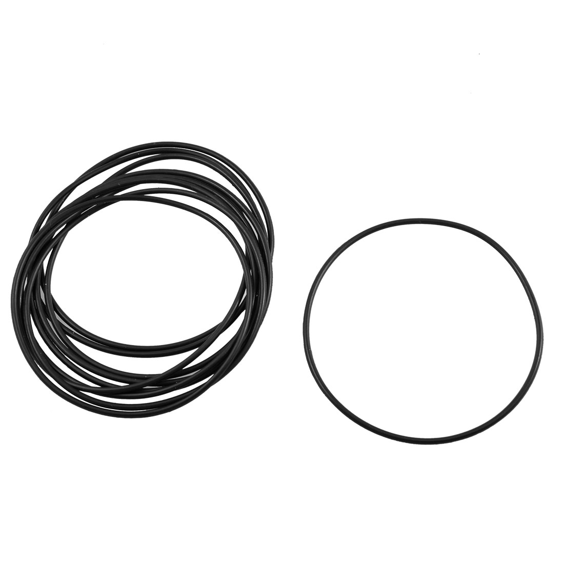 10 Pcs Black Rubber O Shaped Ring Oil Sealing Gaskets 63mm x 1.8mm