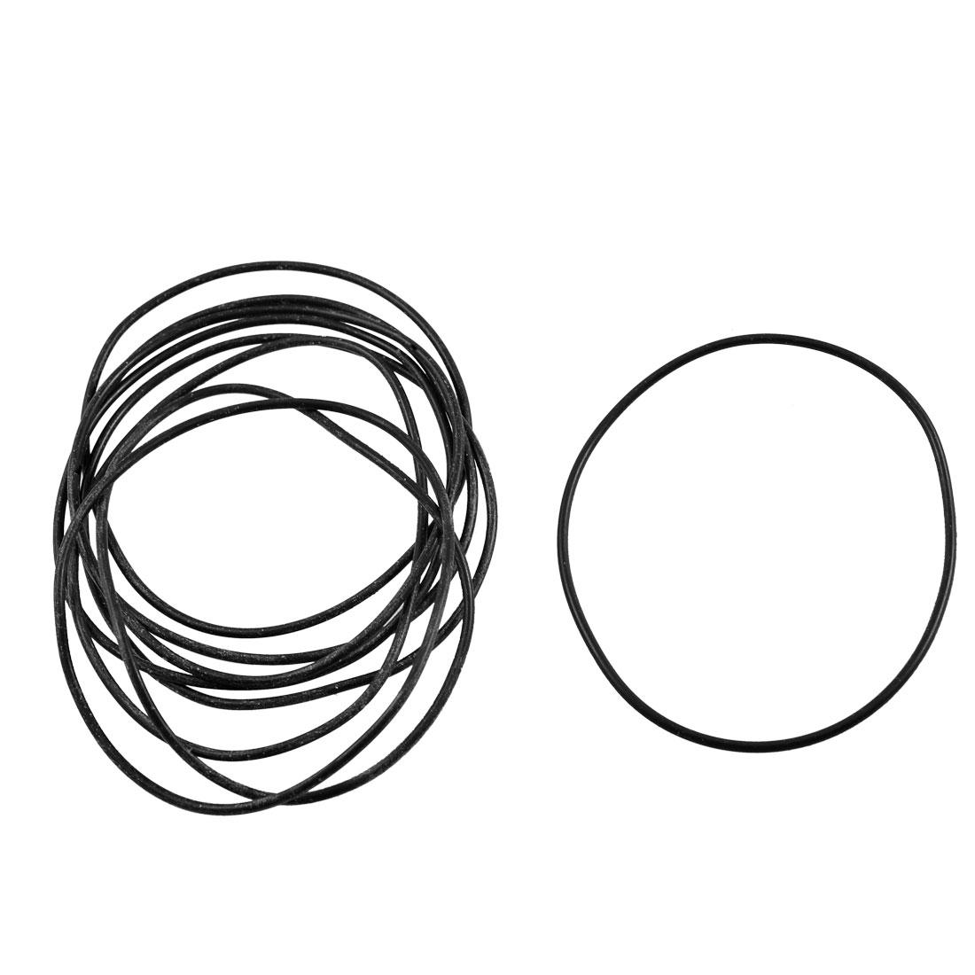 10 Pcs 68.6mm x 65mm x 1.8mm Black Rubber O Ring Oil Sealing Gaskets