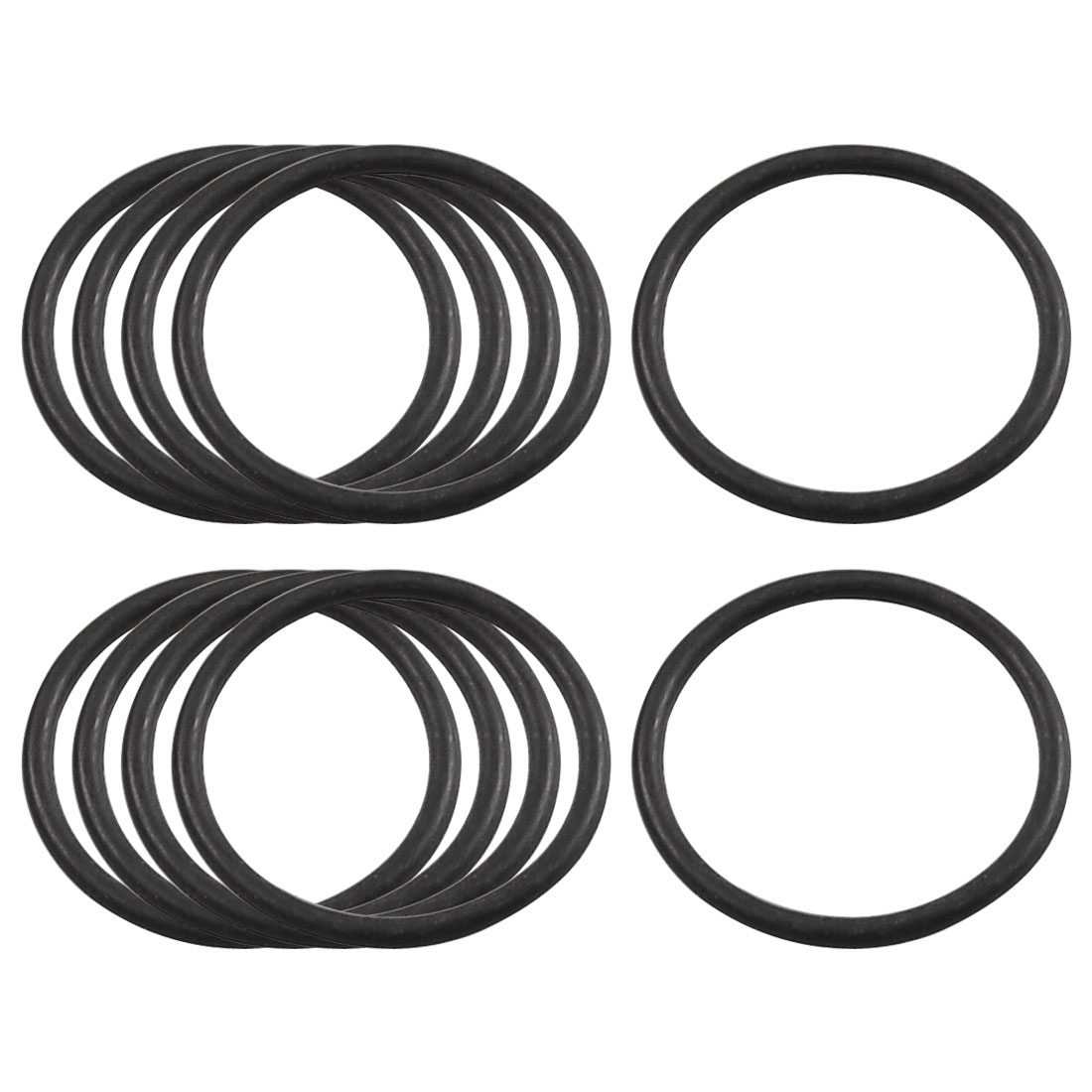 10 Pcs Black Rubber Flexible Oil Seal O Ring Gaskets 20mm x 1.8mm