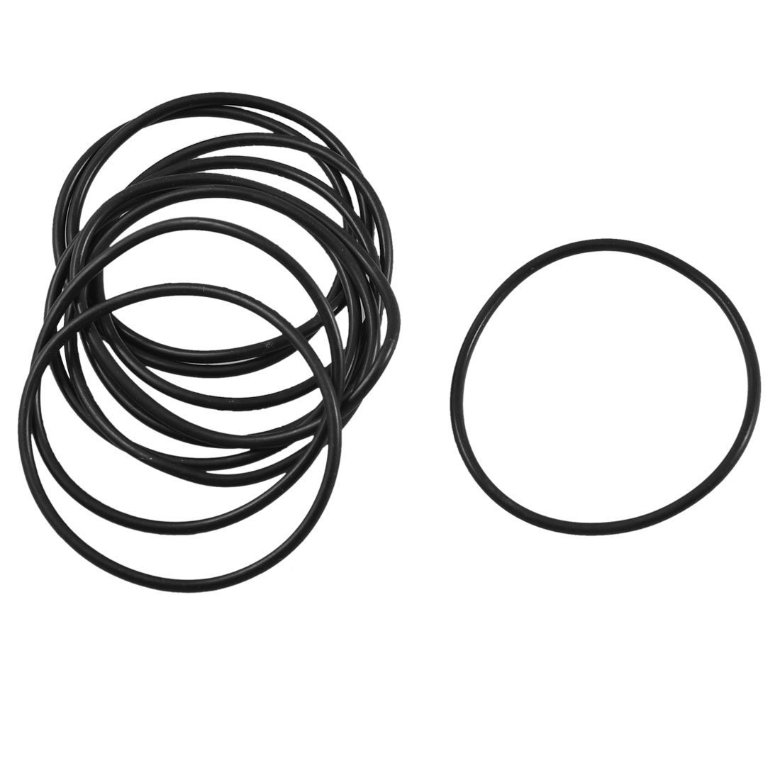 10 Pcs Black Rubber Oil Seal O Ring Sealing Gasket 37.5mm x 1.8mm