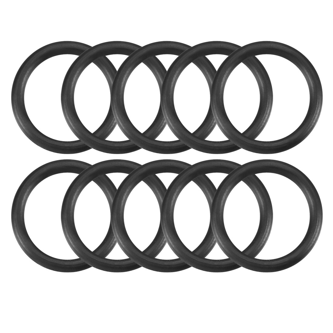 10 Pcs Black Rubber Oil Filter O Ring Sealing Gaskets 11.2mm x 1.8mm