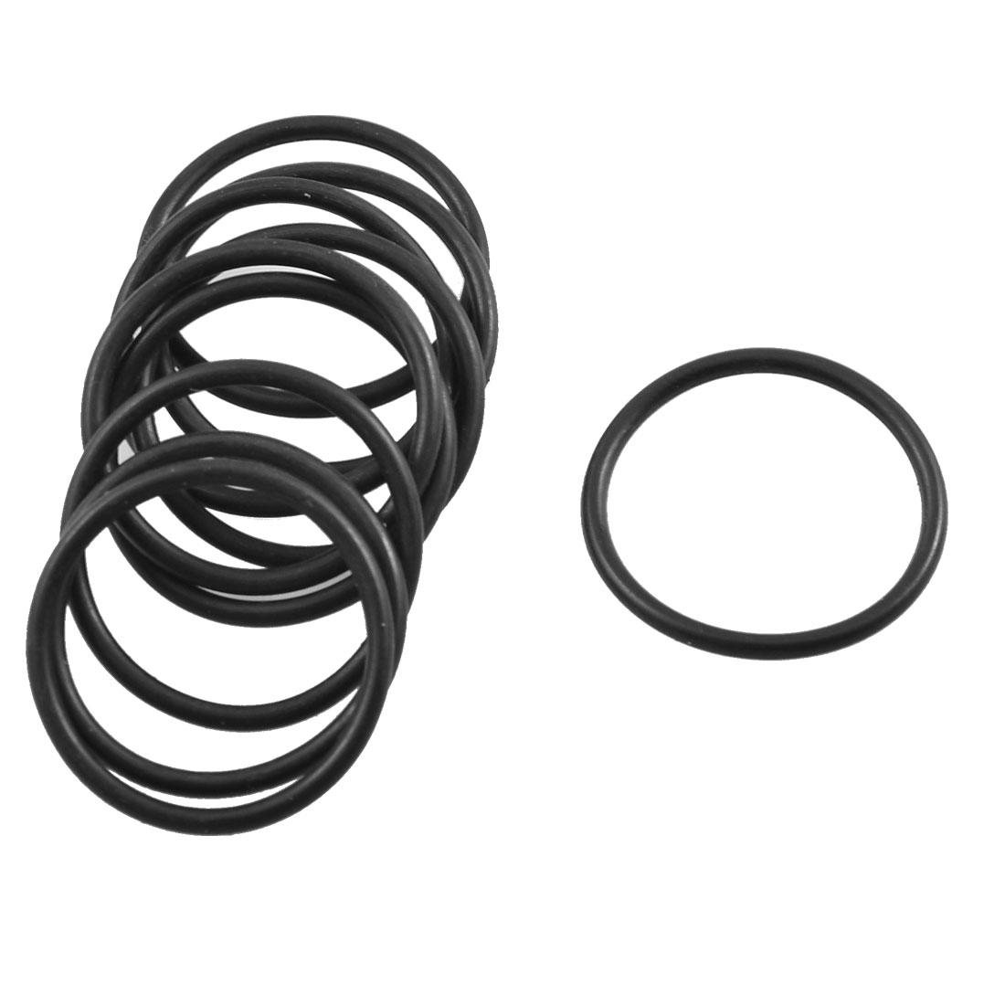 10 Pcs Black Rubber Flexible Oil Seal Gasket O Rings 21.2mm x 1.8mm