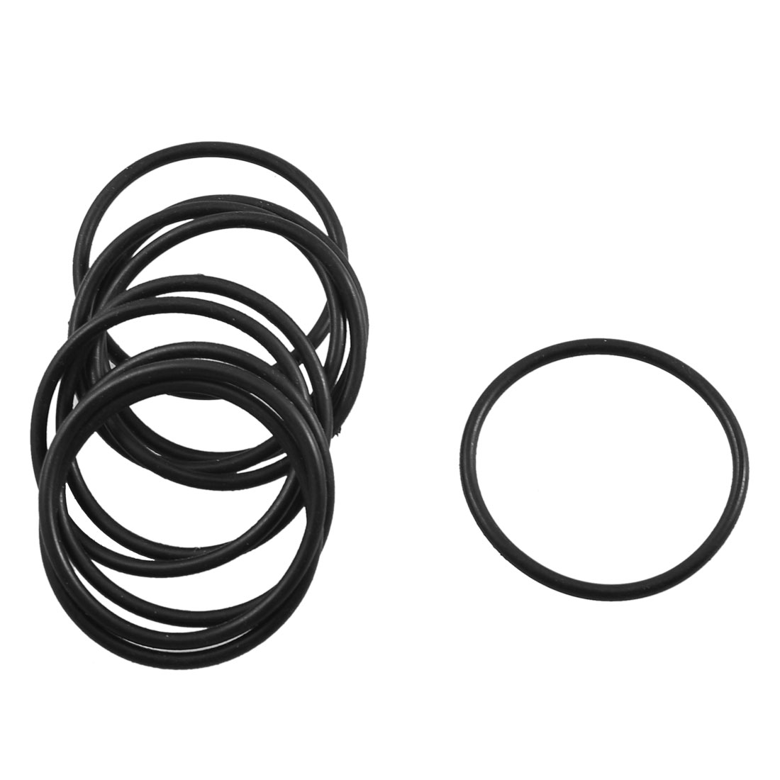 10 Pcs Black Rubber O Ring Oil Seal Sealing Gasket 26.5mm x 1.8mm