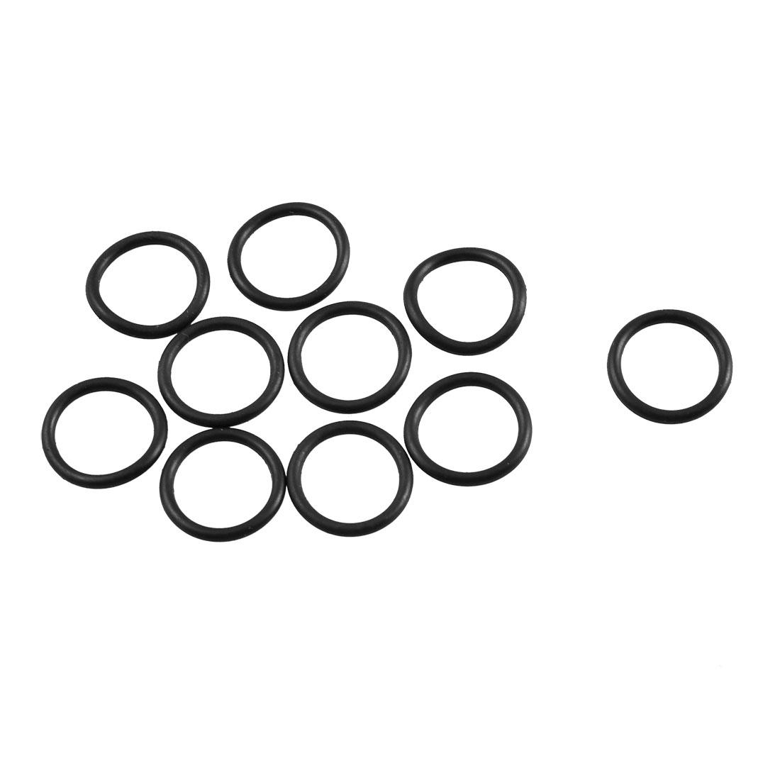 10 Pcs Black Rubber O Shaped Oil Sealing Gasket Ring 11.8mm x 1.8mm