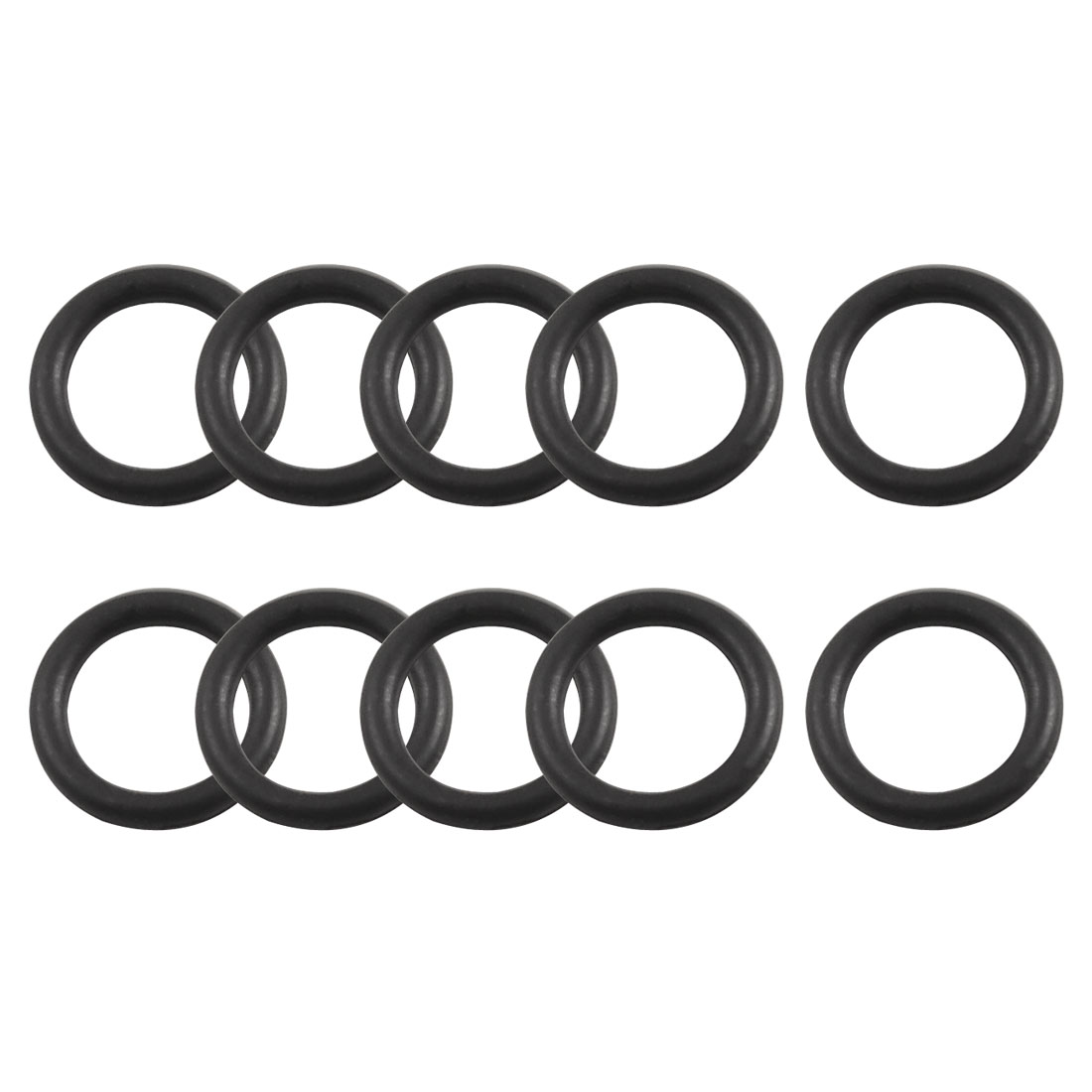 10 Pcs 8mm x 1.8mm Flexible Rubber Oil Seal O Ring Gasket Black