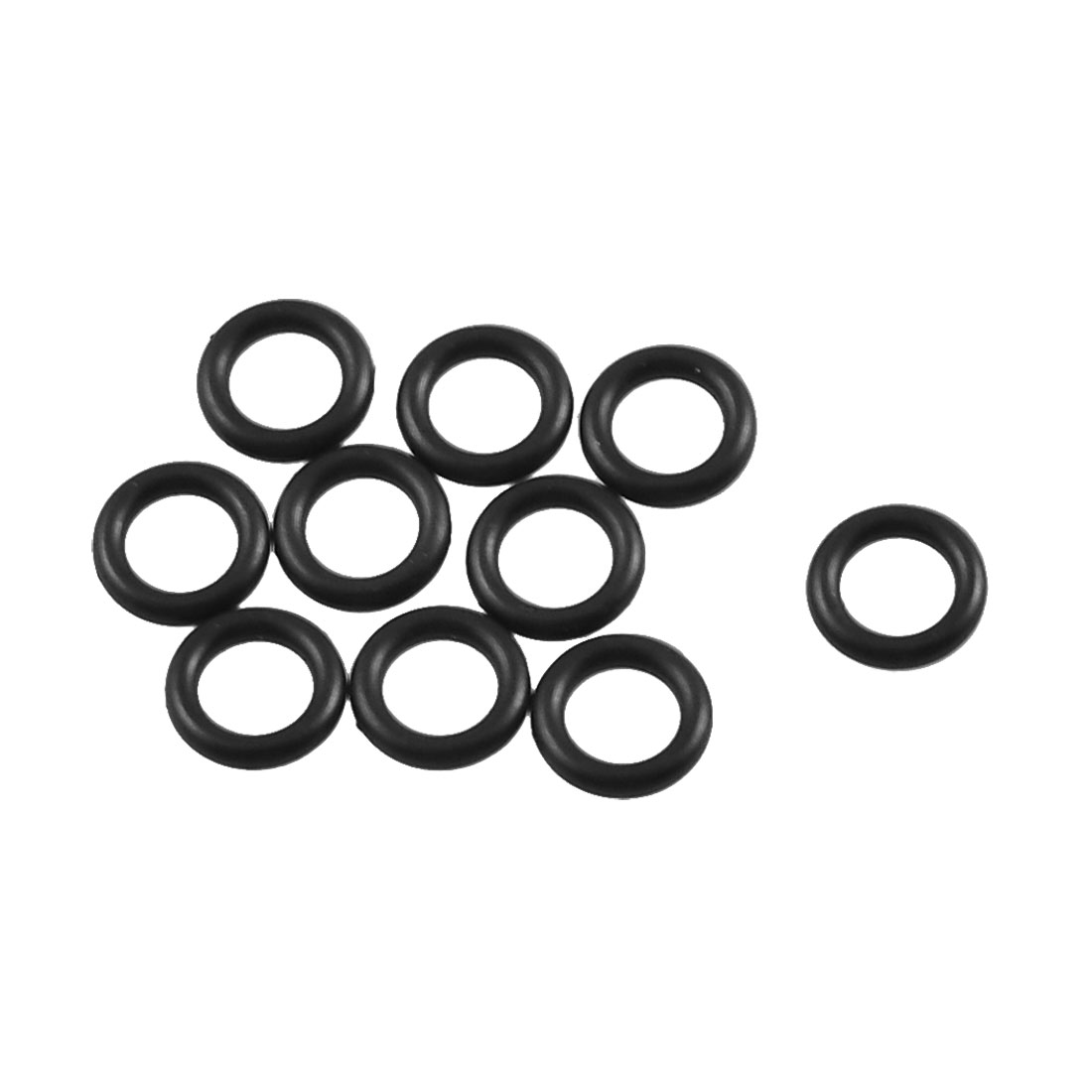 10 Pcs Black Rubber Oil Filter O Ring Sealing Gaskets 6mm x 1.8mm