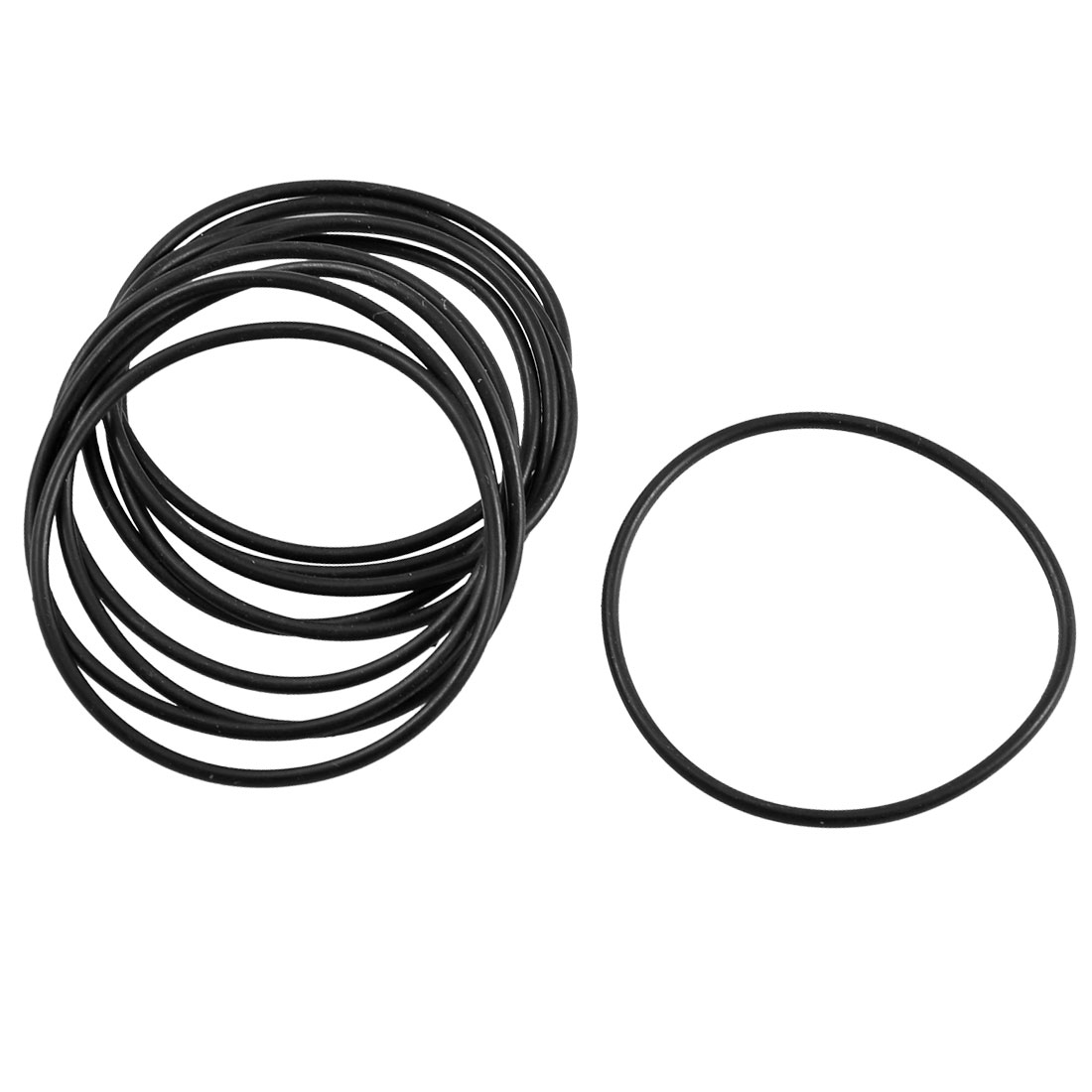 10 Pcs 43.7mm x 1.8mm Black Rubber Oil Seal O Ring Gasket Washer