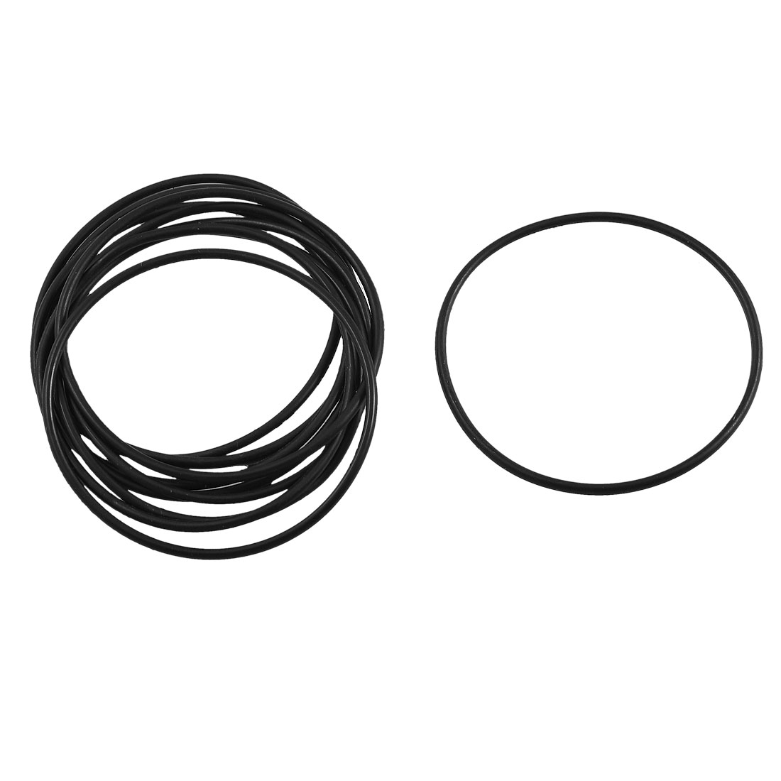 10 Pcs Black Rubber Circular Oil Seal O Ring Gaskets 50mm x 1.8mm