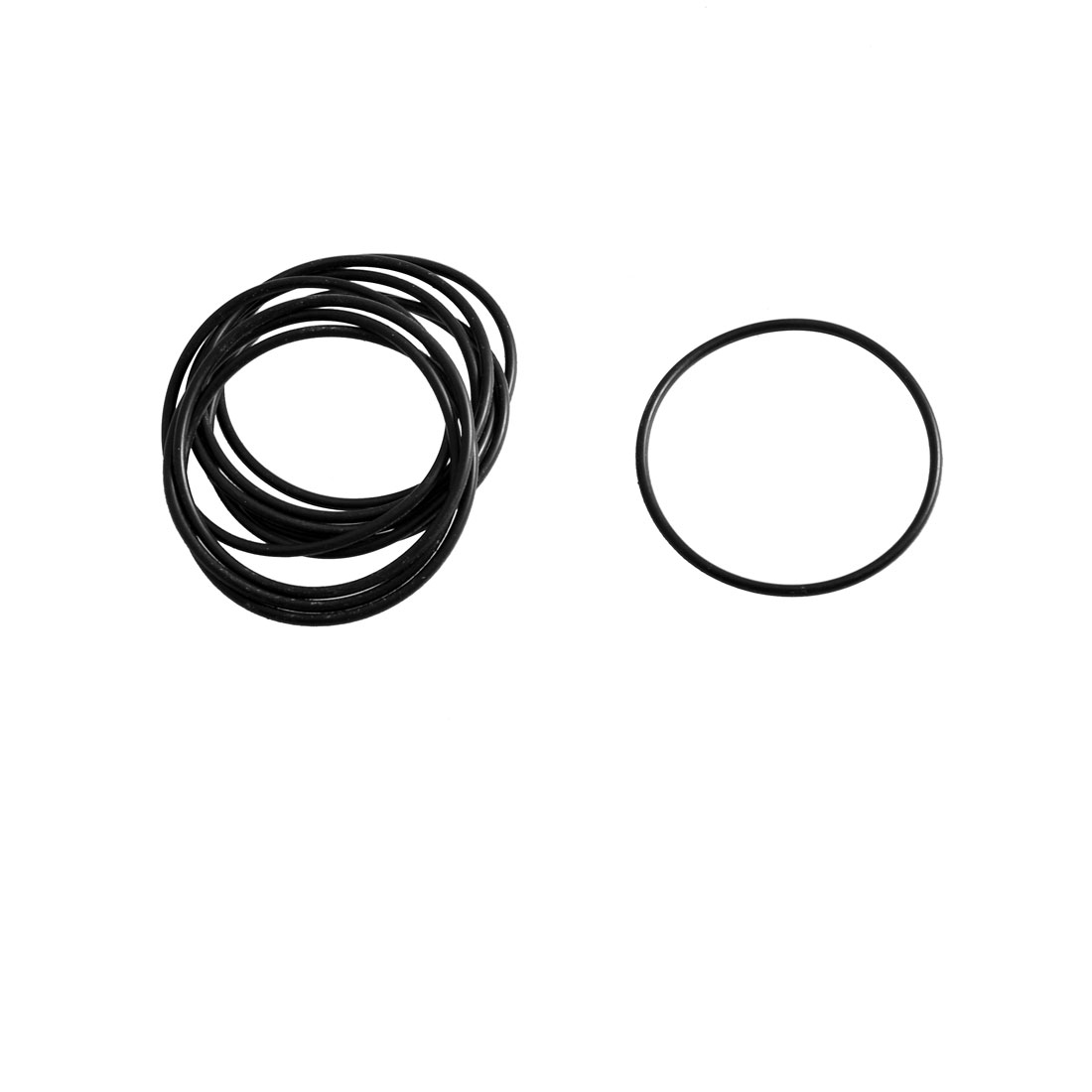 10 Pcs Black Rubber Oil Seal O Ring Gasket Washers 40mm x 1.8mm